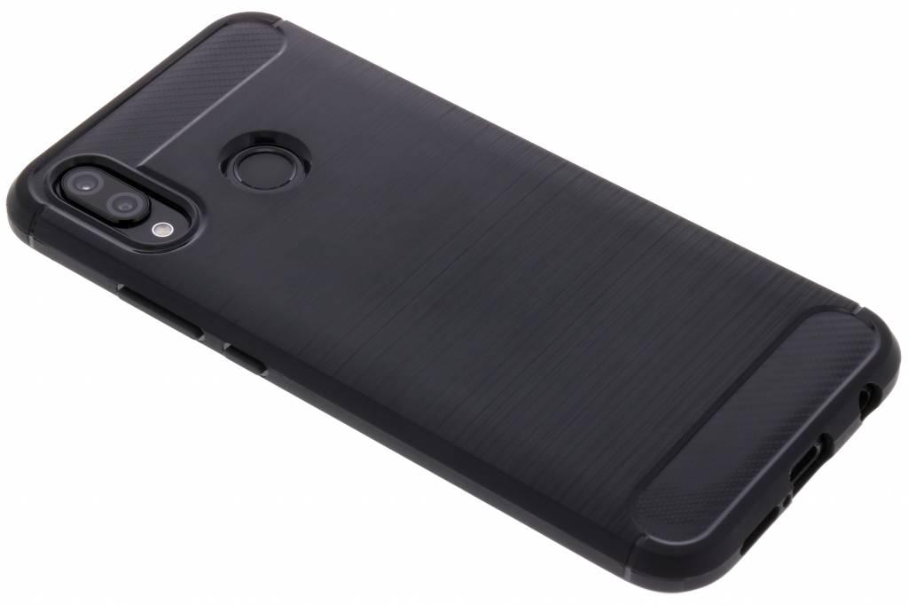 Schwarzer Brushed TPU Case Huawei P20 Lite