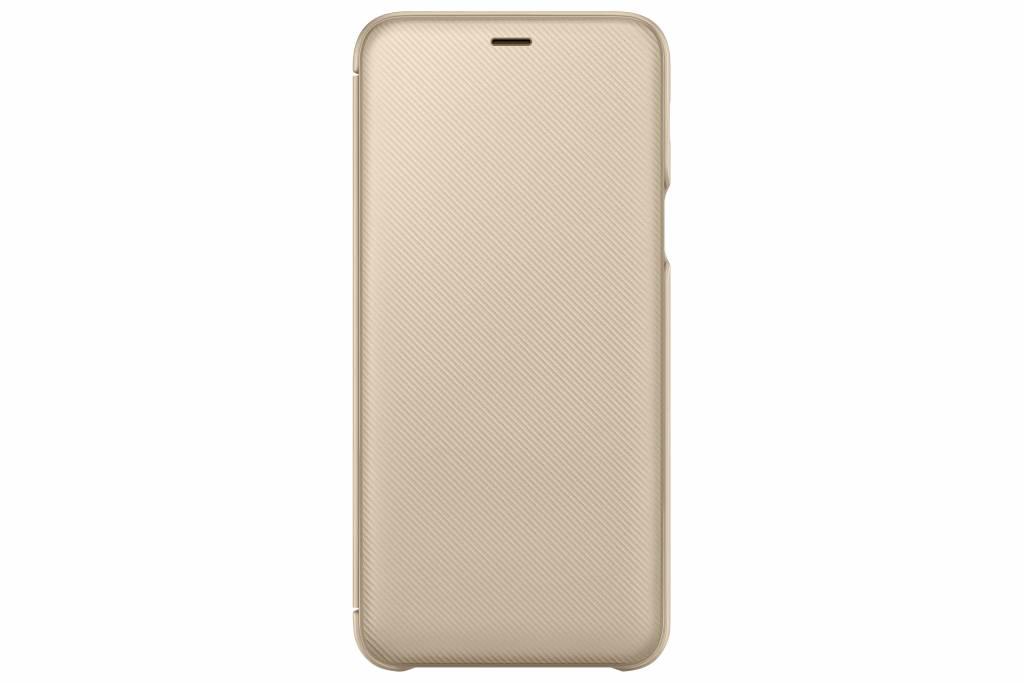 Samsung Goldfarbenes Wallet Cover Galaxy A6 Plus (2018)