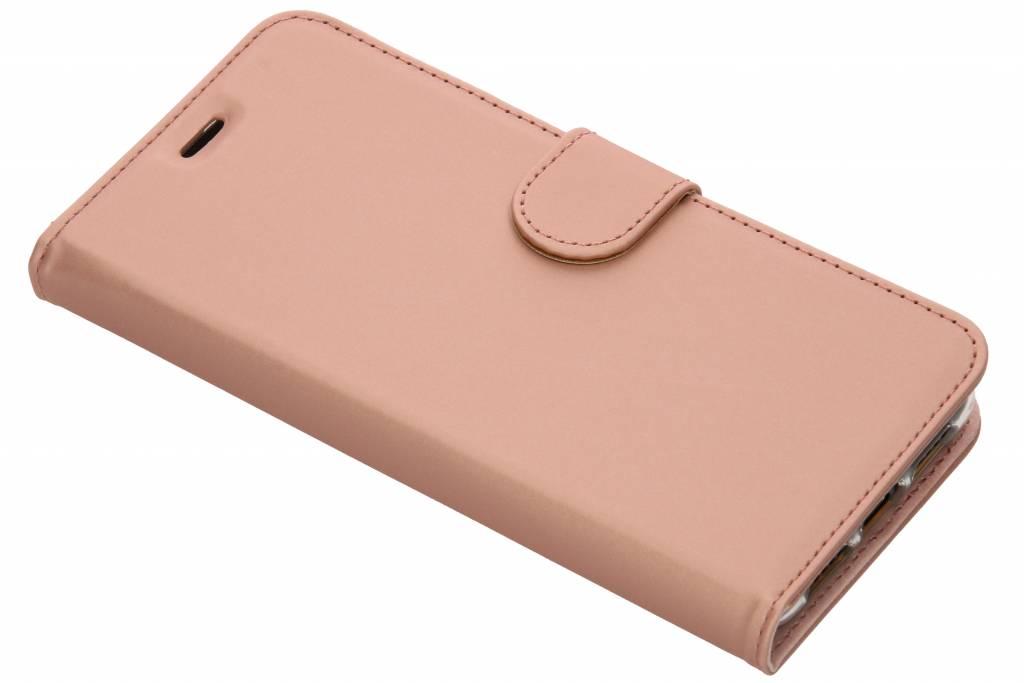 Accezz Roségoldfarbenes Wallet TPU Booklet für das Huawei P20 Pro