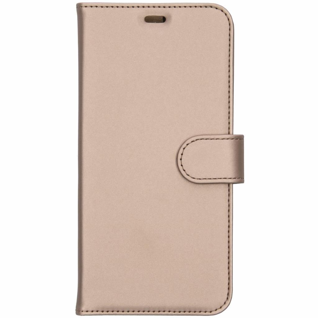 Accezz Wallet TPU Booklet Gold für das Samsung Galaxy J4 Plus