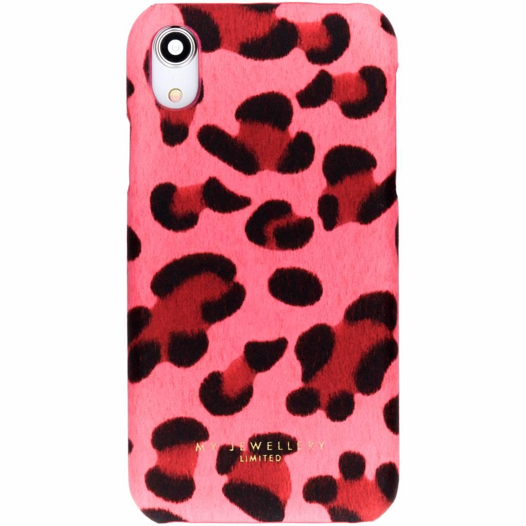 My Jewellery Leopard Print Design Hardcase Rosa für das iPhone Xr