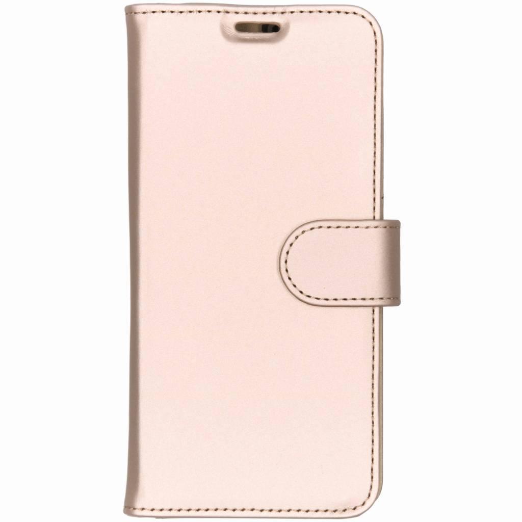 Accezz Wallet TPU Booklet Gold für das Samsung Galaxy S10