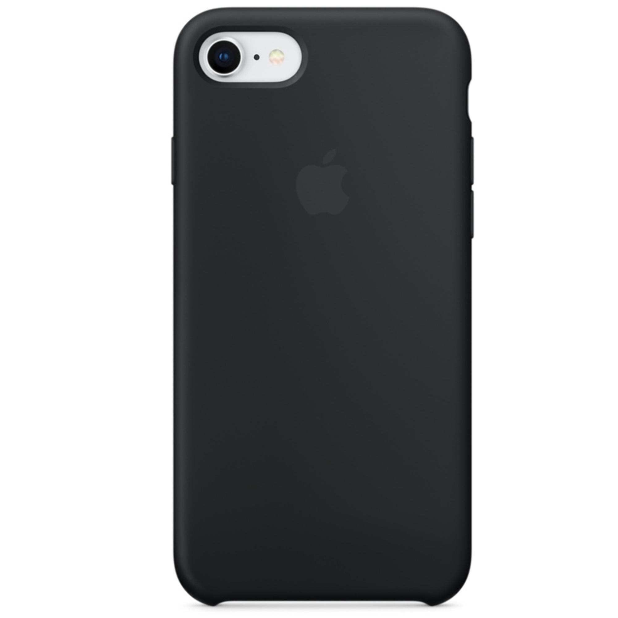 Apple Silikon-Case Schwarz für das iPhone SE (2020) / 8 / 7
