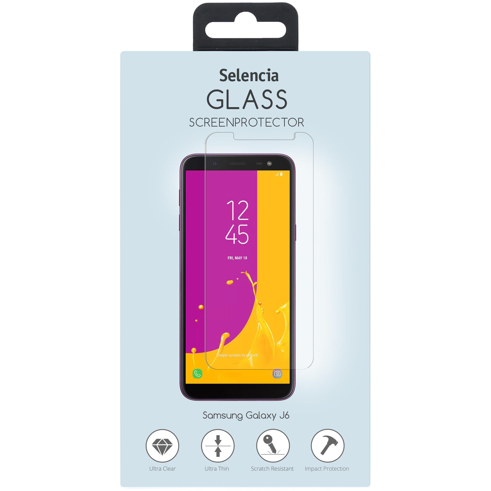 Selencia Bildschirmschutz aus gehärtetem Glas für Samsung Galaxy J6