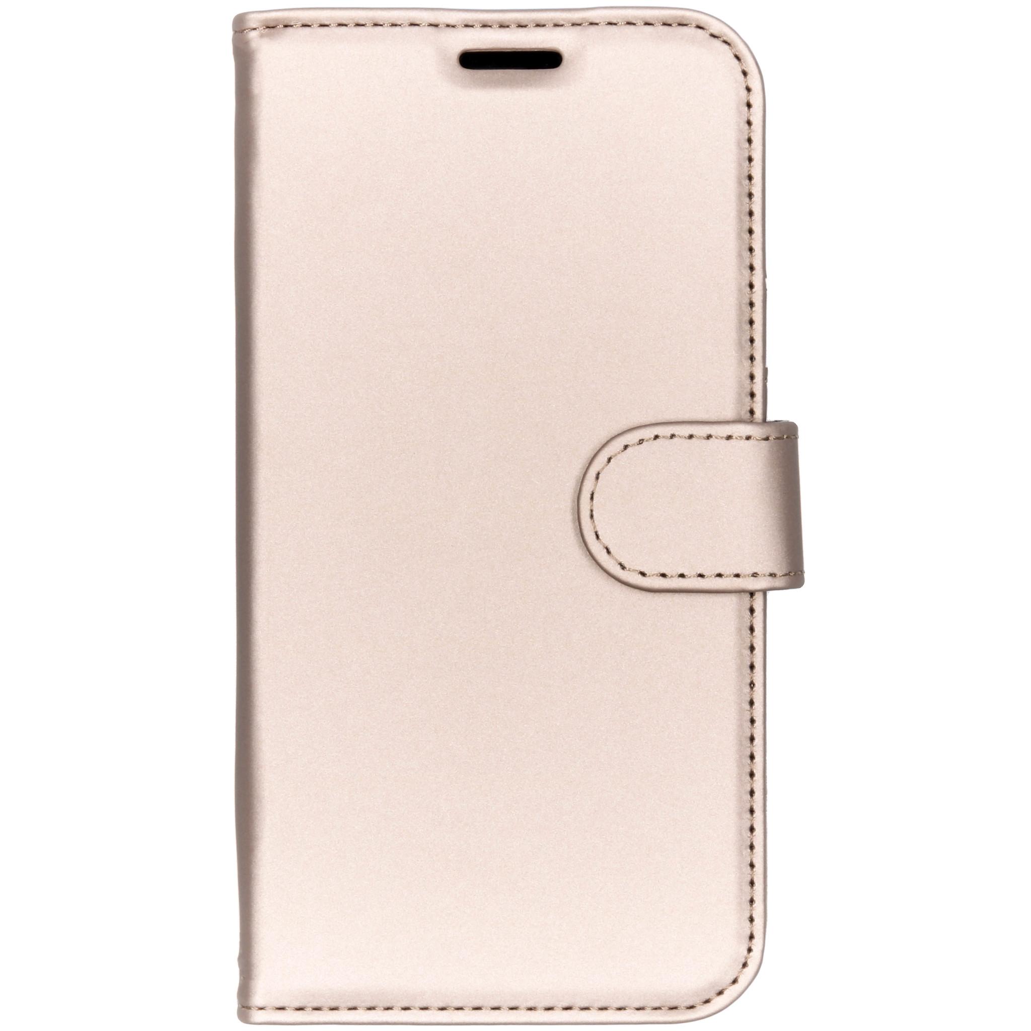 Accezz Wallet TPU Booklet Gold für das iPhone Xr