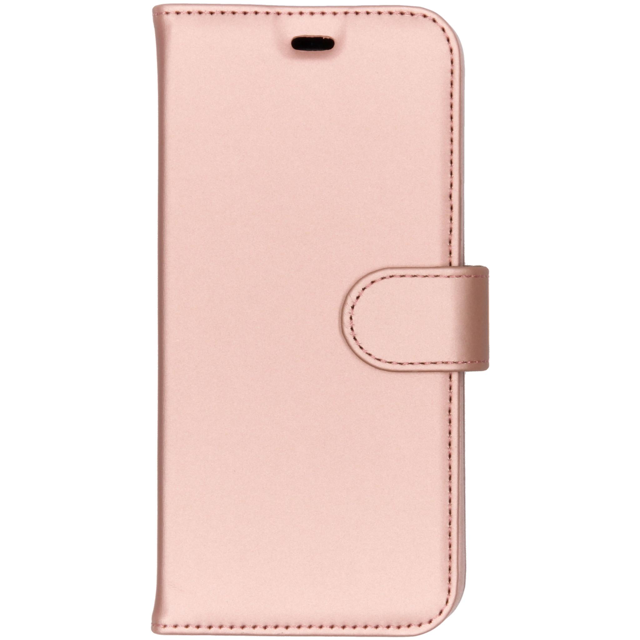 Accezz Roségoldenes Wallet TPU Booklet Samsung Galaxy A6 (2018)