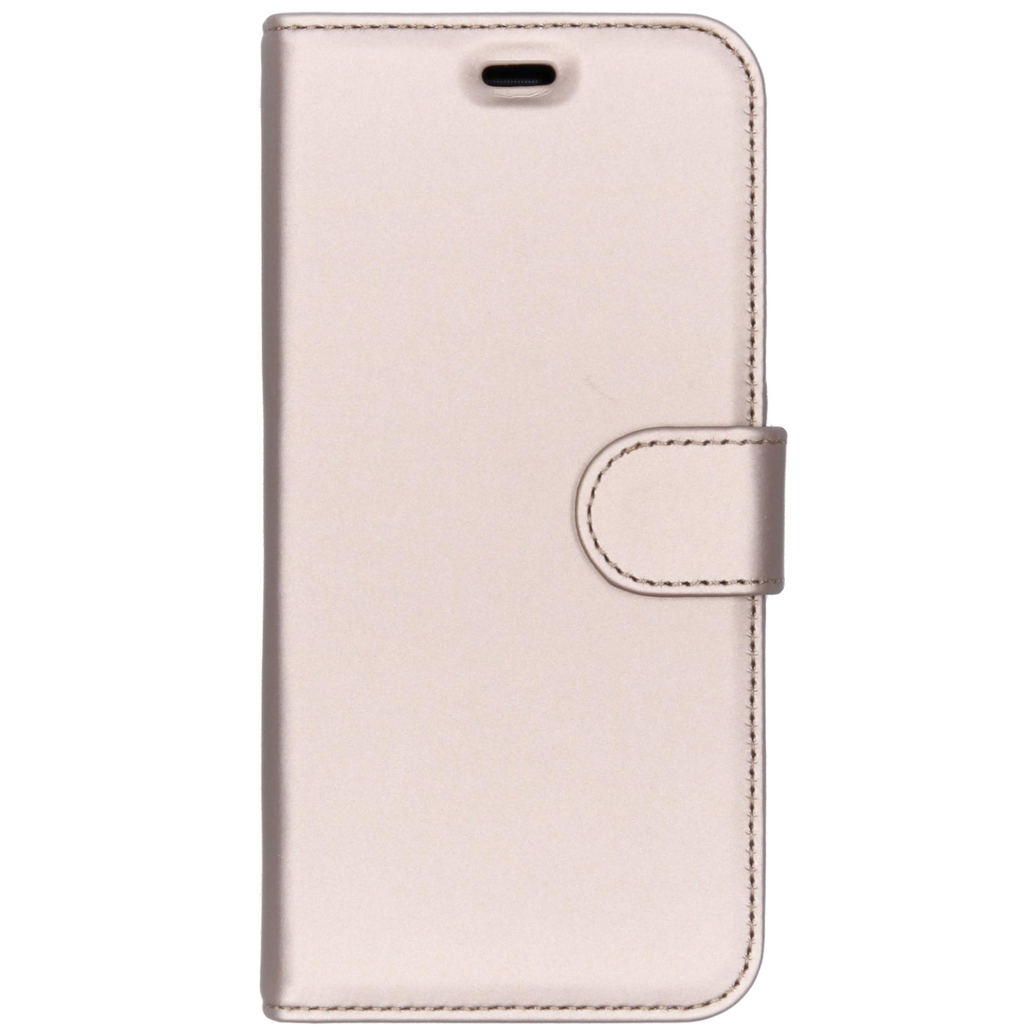Accezz Wallet TPU Booklet Gold für das Samsung Galaxy J6