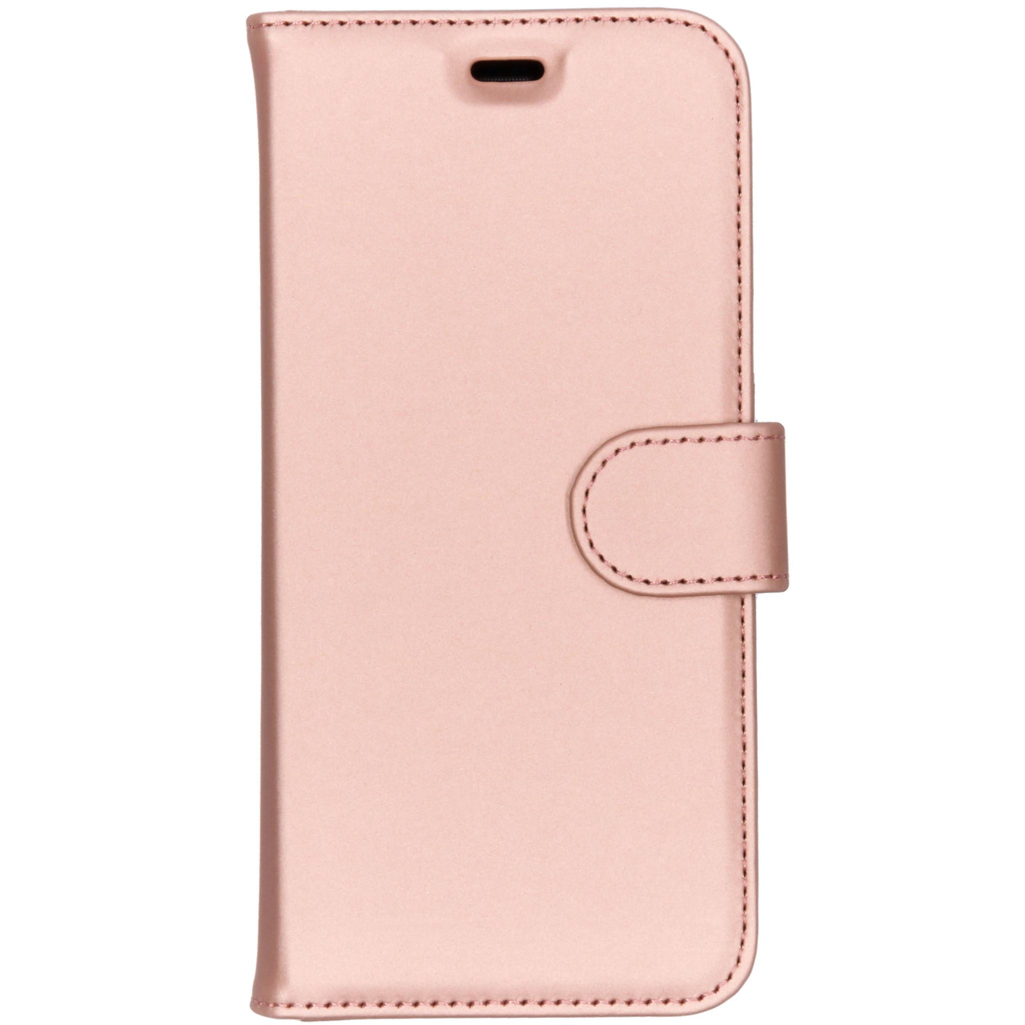 Accezz Wallet TPU Booklet Roségold für das Samsung Galaxy J6