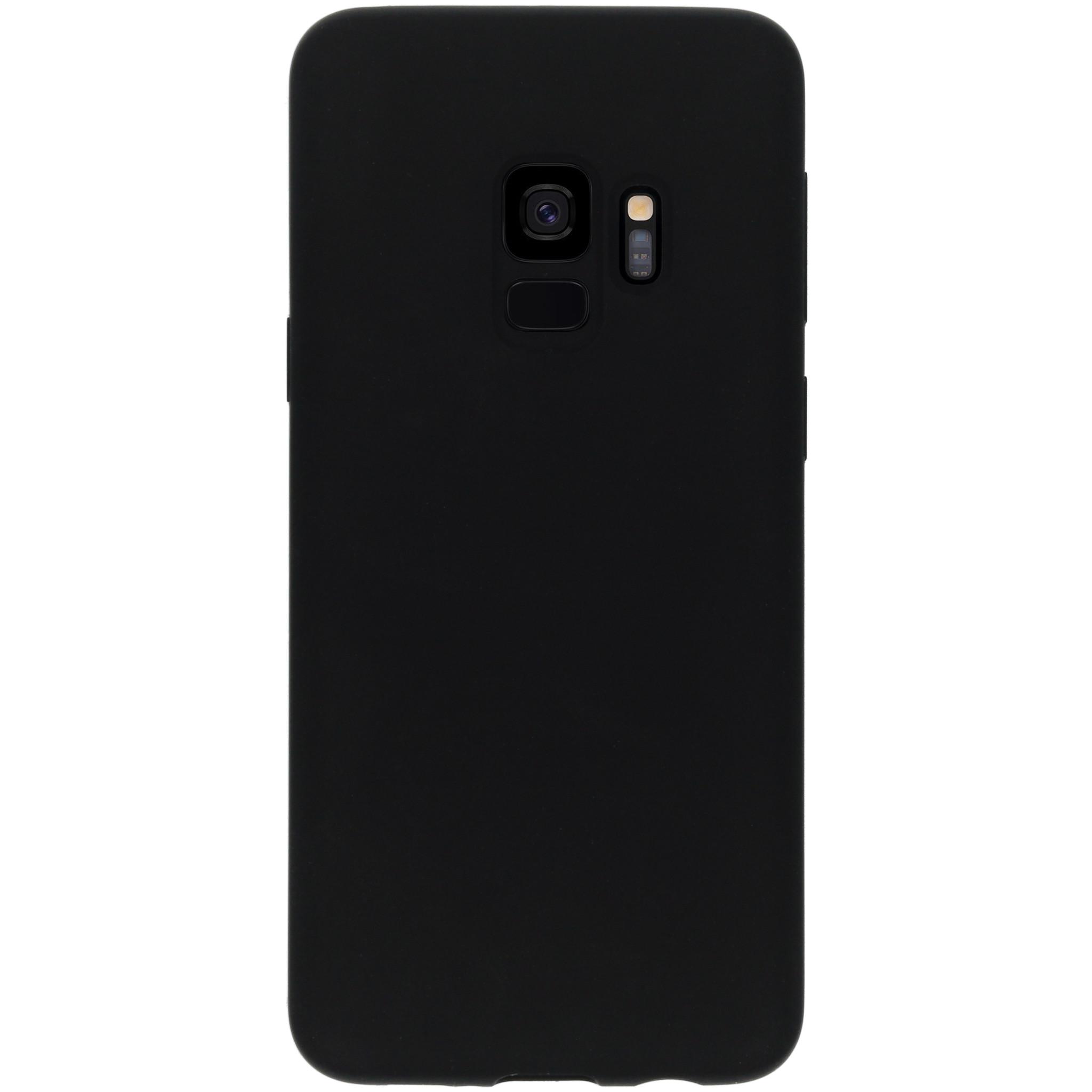 Accezz Liquid Silikoncase Schwarz für das Samsung Galaxy S9