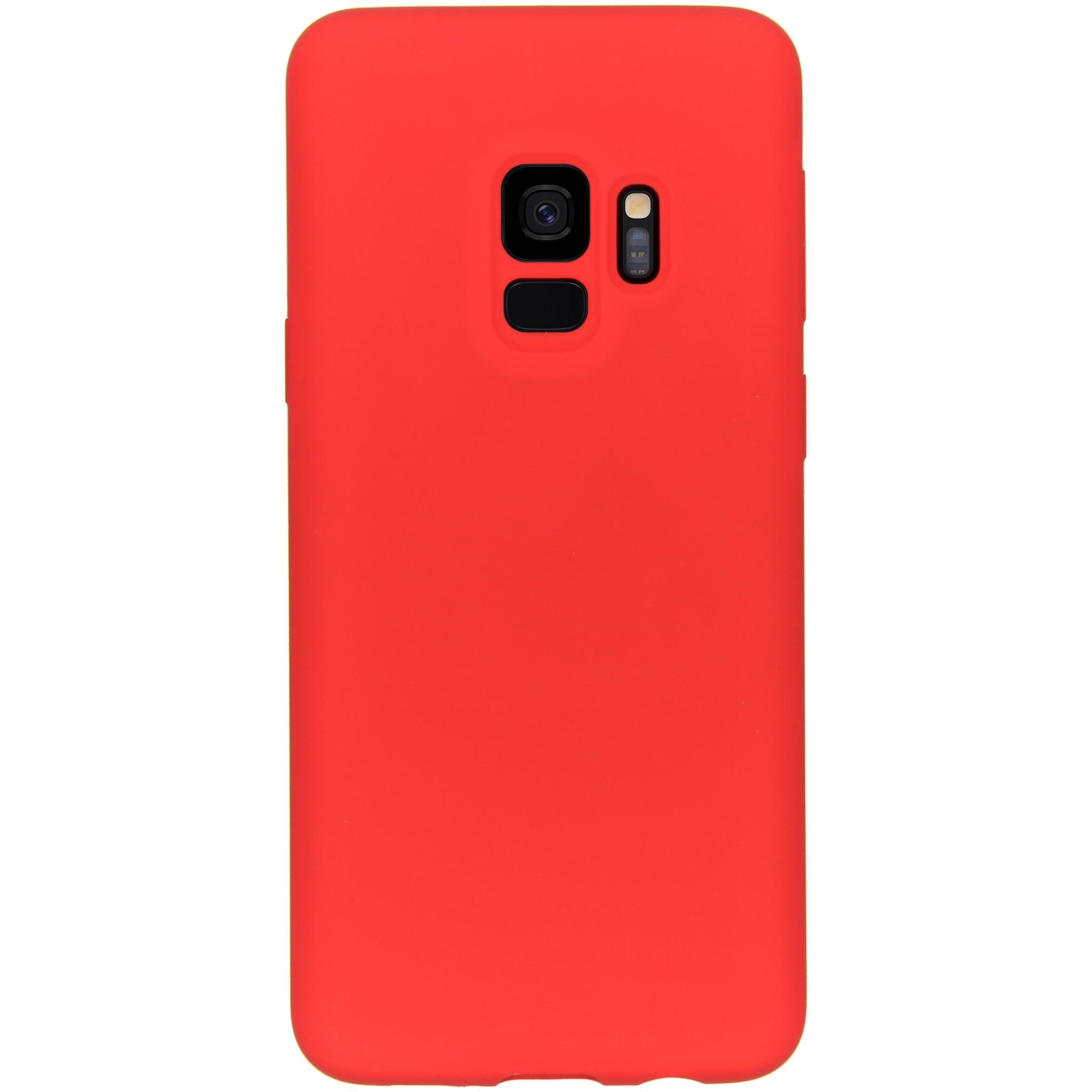 Accezz Liquid Silikoncase Rot für das Samsung Galaxy S9