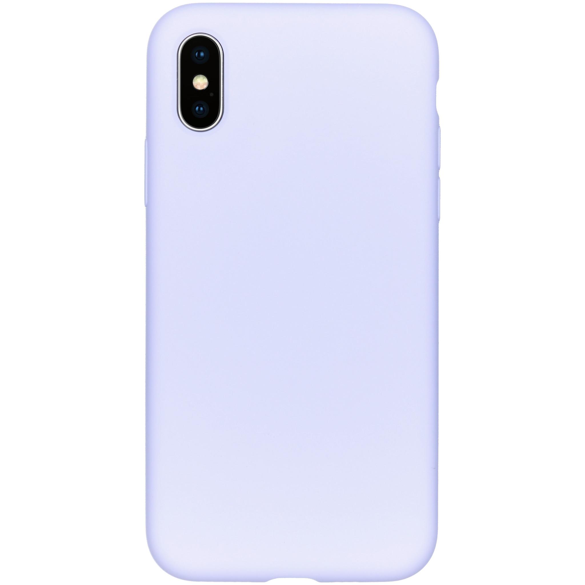 Accezz Liquid Silikoncase Lila für das iPhone Xs / X