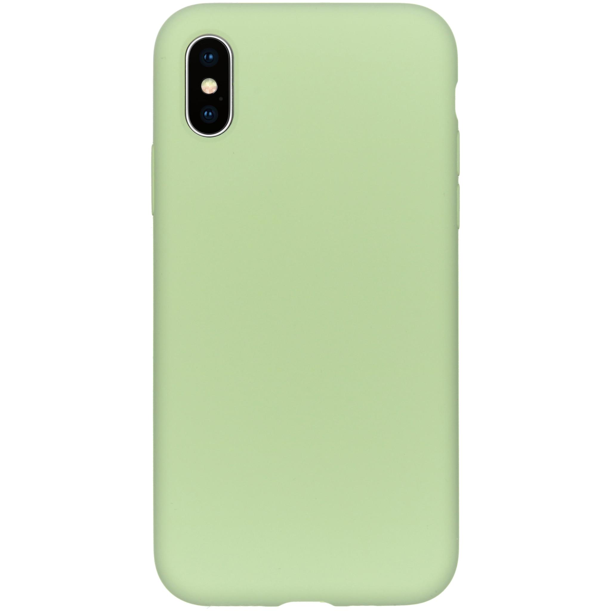 Accezz Liquid Silikoncase Grün für das iPhone Xs / X