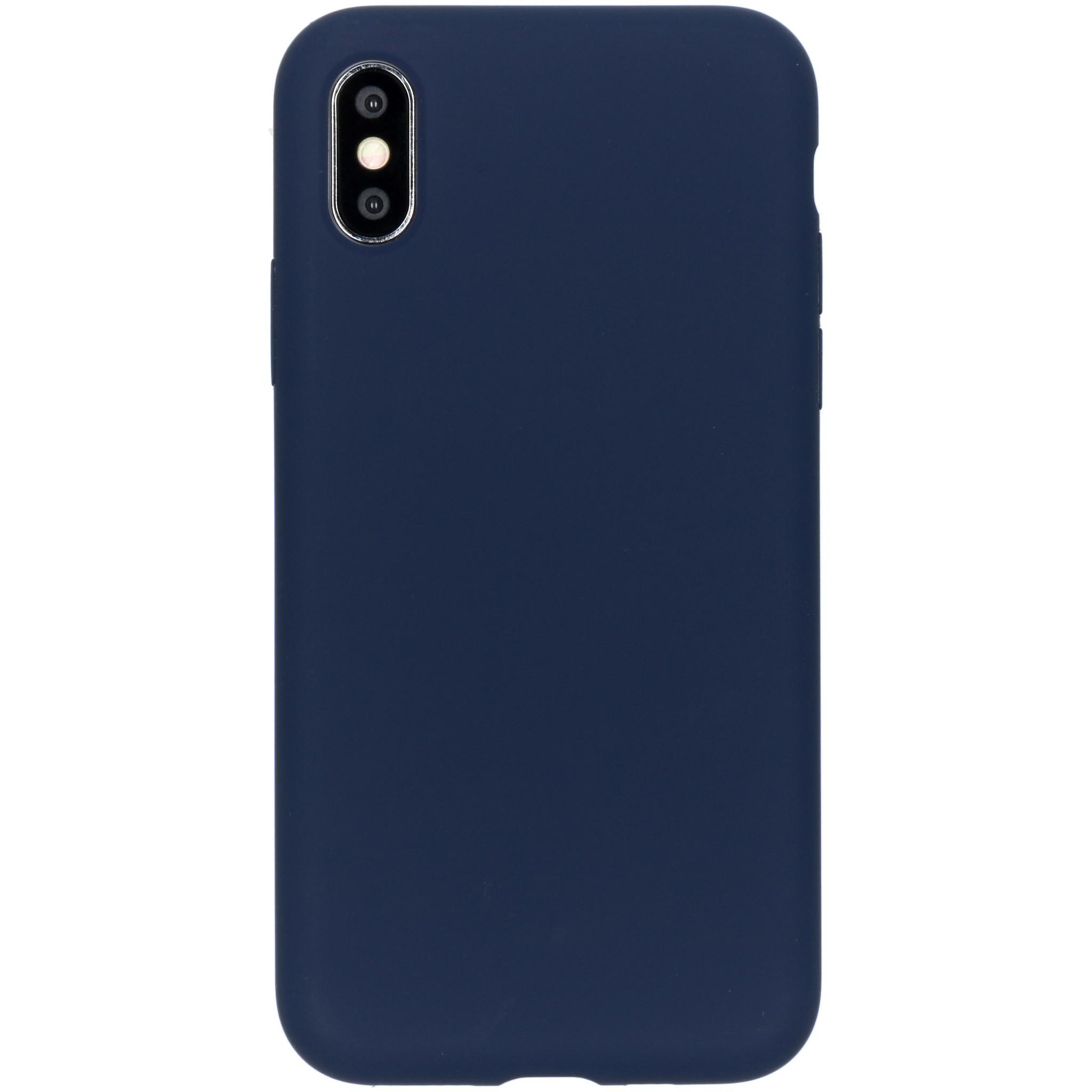 Accezz Liquid Silikoncase Blau für das iPhone Xs / X