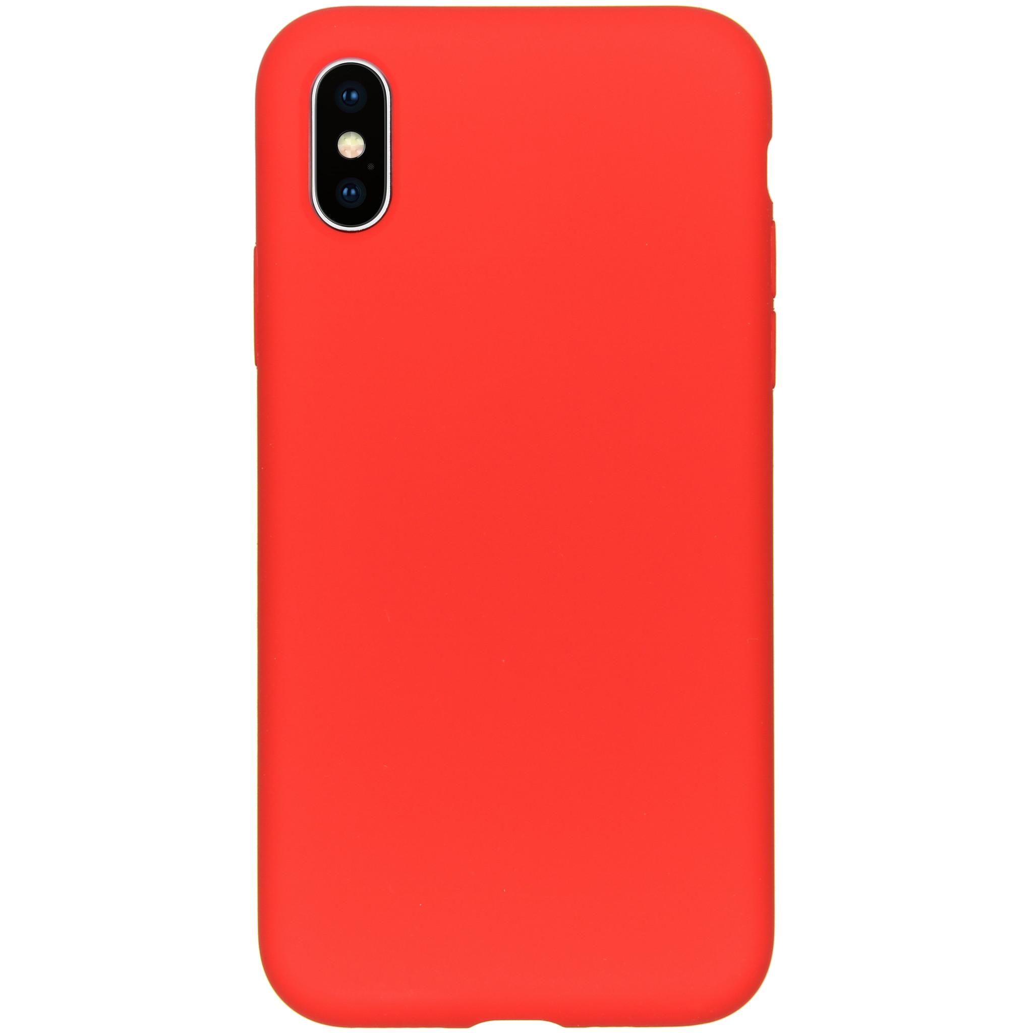 Accezz Liquid Silikoncase Rot für das iPhone Xs / X