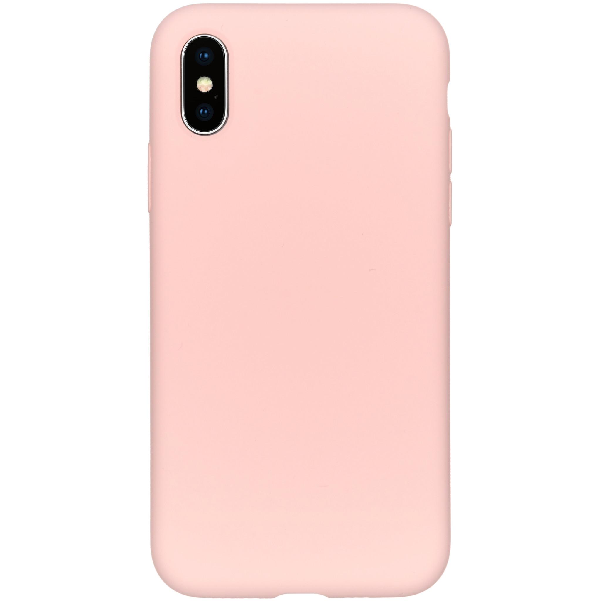 Accezz Liquid Silikoncase Rosa für das iPhone Xs / X