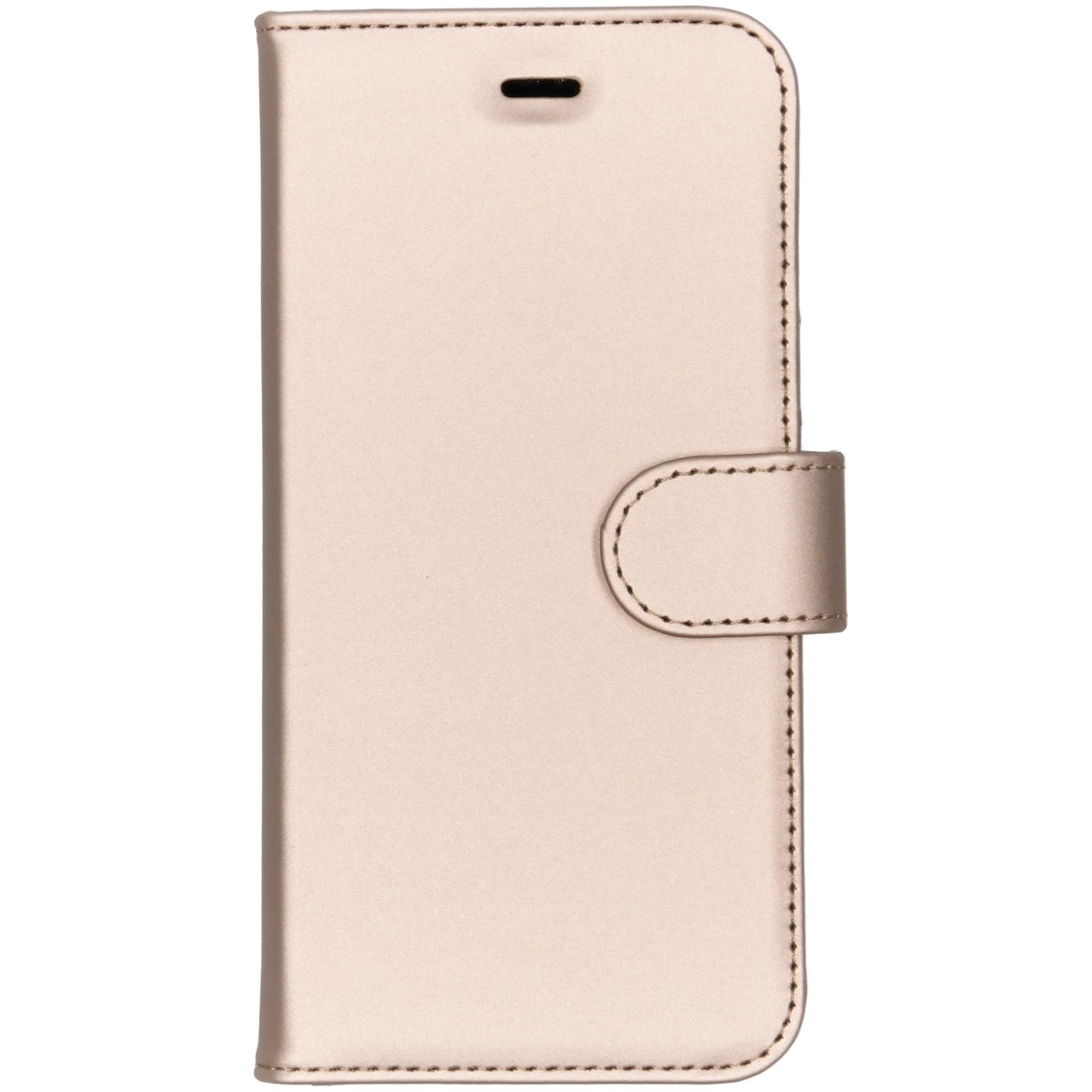 Accezz Goldfarbenes Wallet TPU Booklet für das Huawei P20 Lite