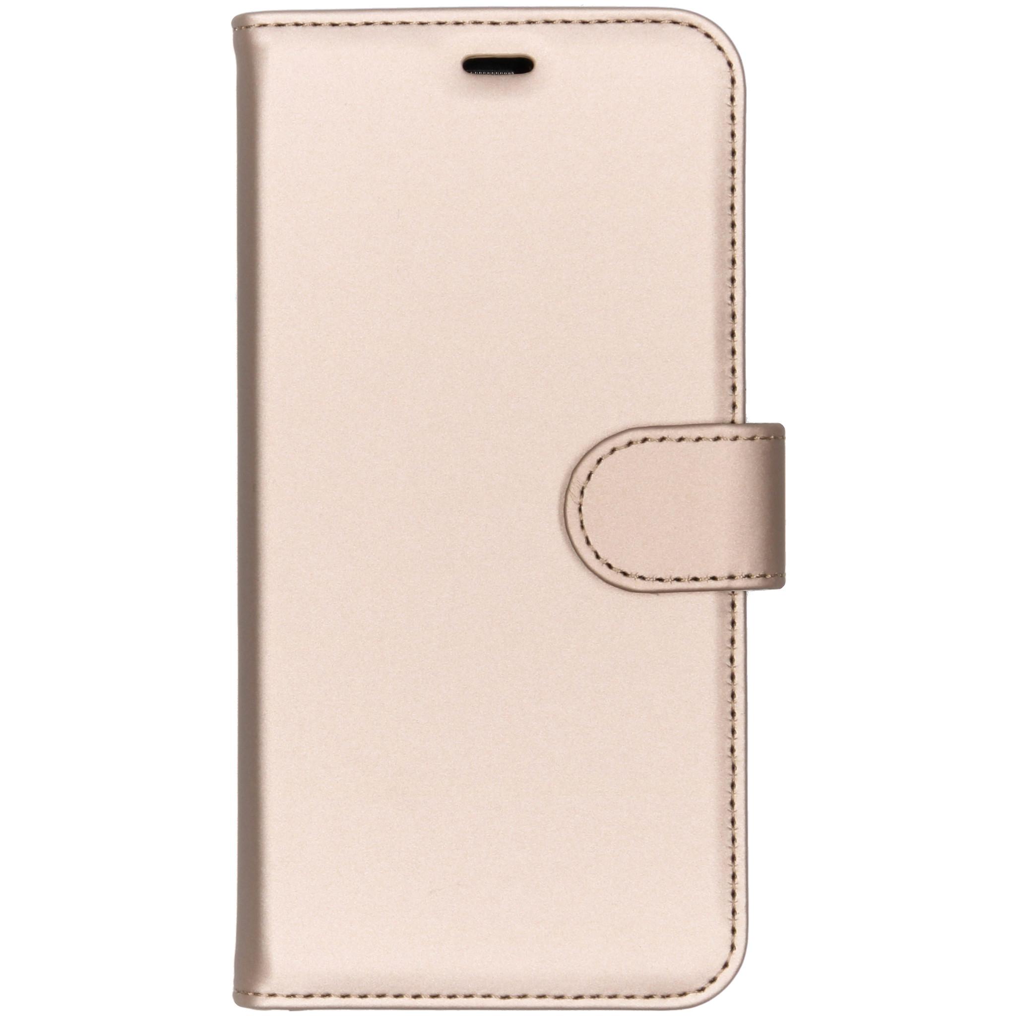 Accezz Goldenes Wallet TPU Booklet für das Huawei P Smart