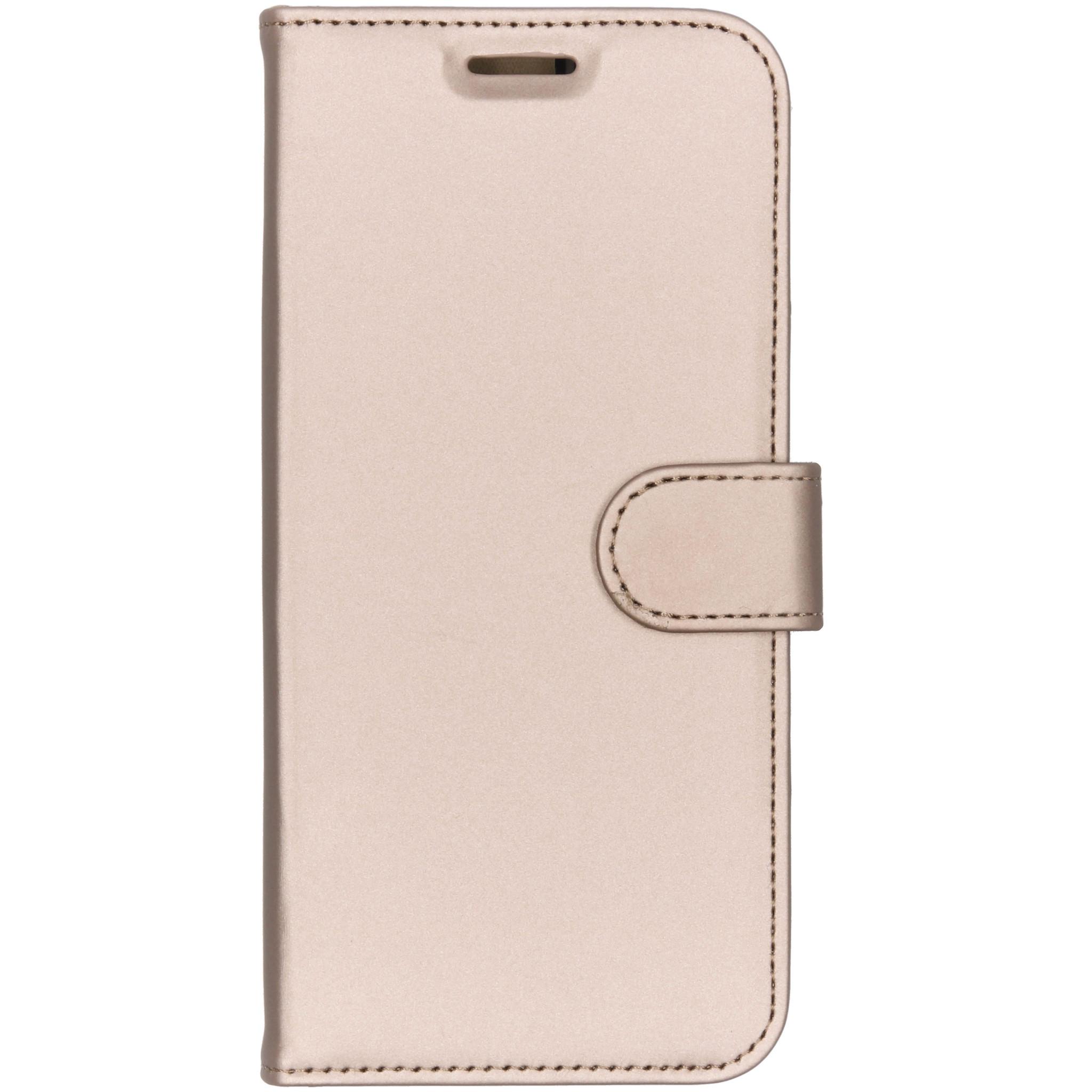 Accezz Goldenes Wallet TPU Booklet für das Motorola Moto G6 Plus
