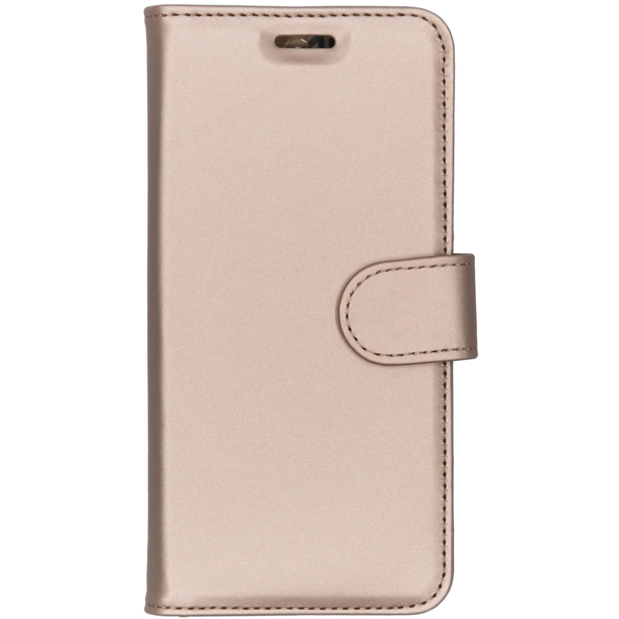 Accezz Wallet TPU Booklet Gold für das Nokia 3.1