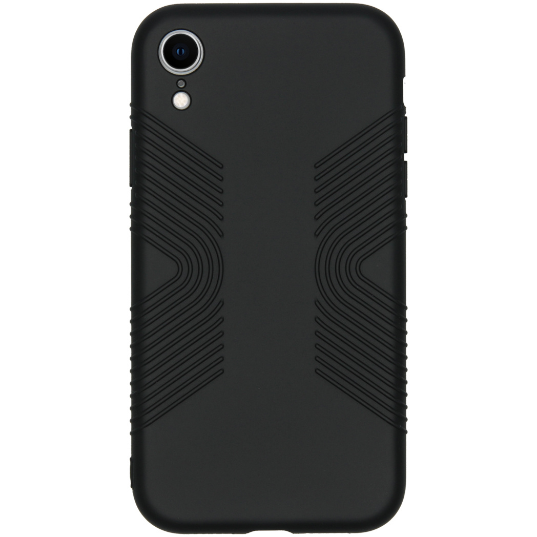 Accezz Impact Grip Backcover Schwarz für das iPhone Xr