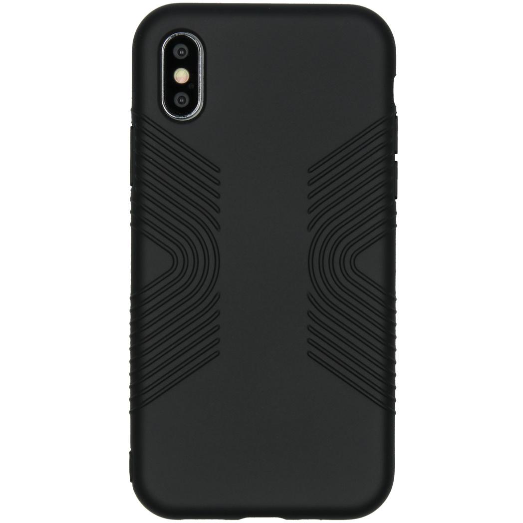 Accezz Impact Grip Backcover Schwarz für das iPhone X / Xs