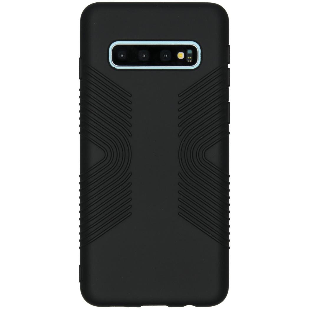 Accezz Impact Grip Backcover Schwarz für das Samsung Galaxy S10