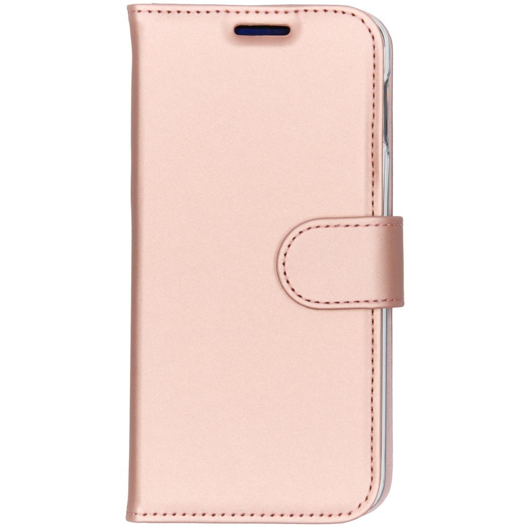 Accezz Wallet TPU Booklet Roségold für das Samsung Galaxy S10e