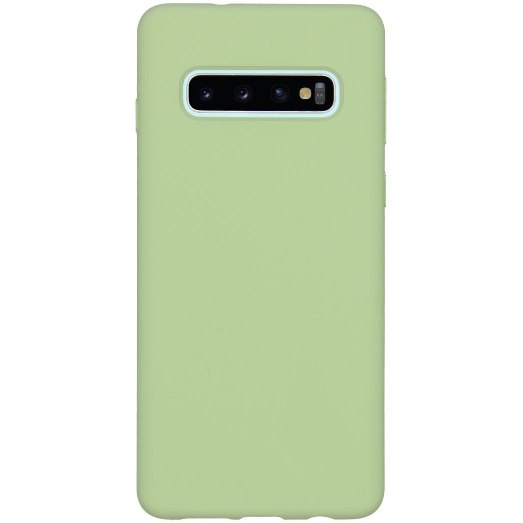 Accezz Liquid Silikoncase Grün für das Samsung Galaxy S10