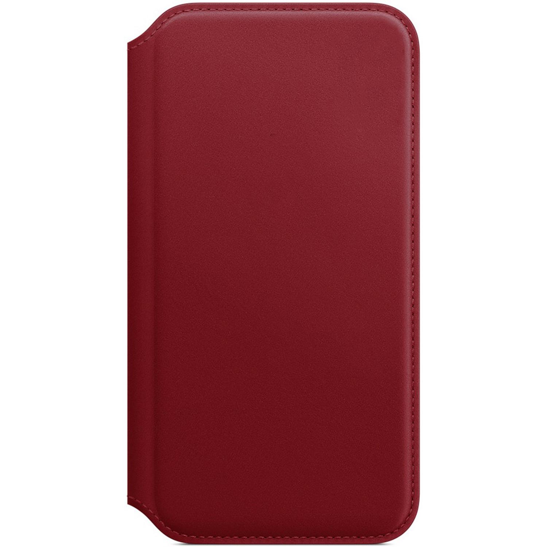 Apple Leather Folio Book Case Red für das iPhone X / Xs