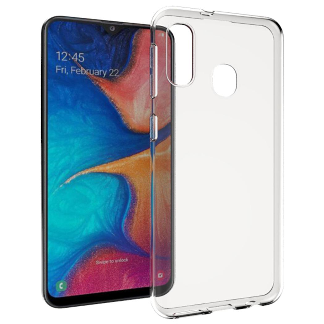 Accezz TPU Clear Cover Transparent für Samsung Galaxy A20e