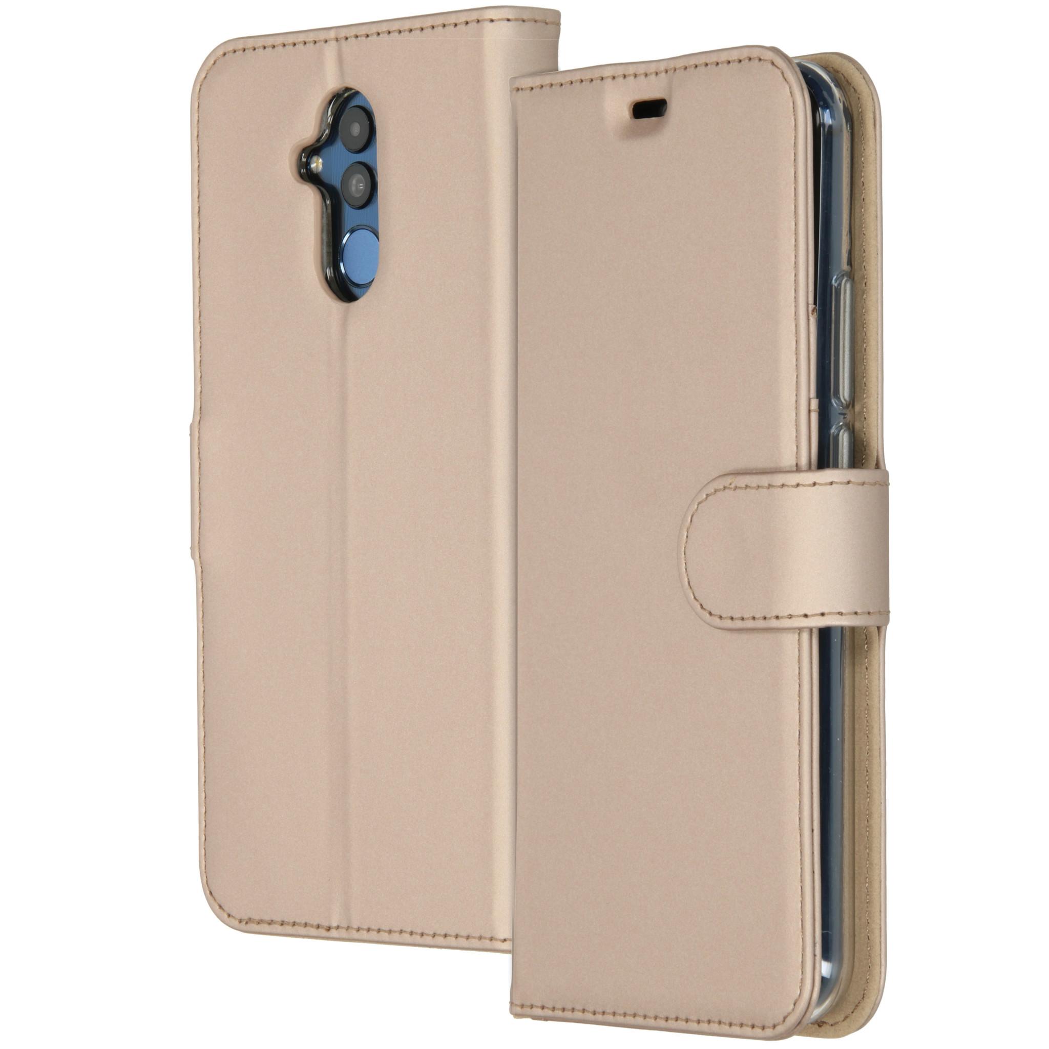 Accezz Wallet TPU Booklet Gold für das Huawei Mate 20 Lite