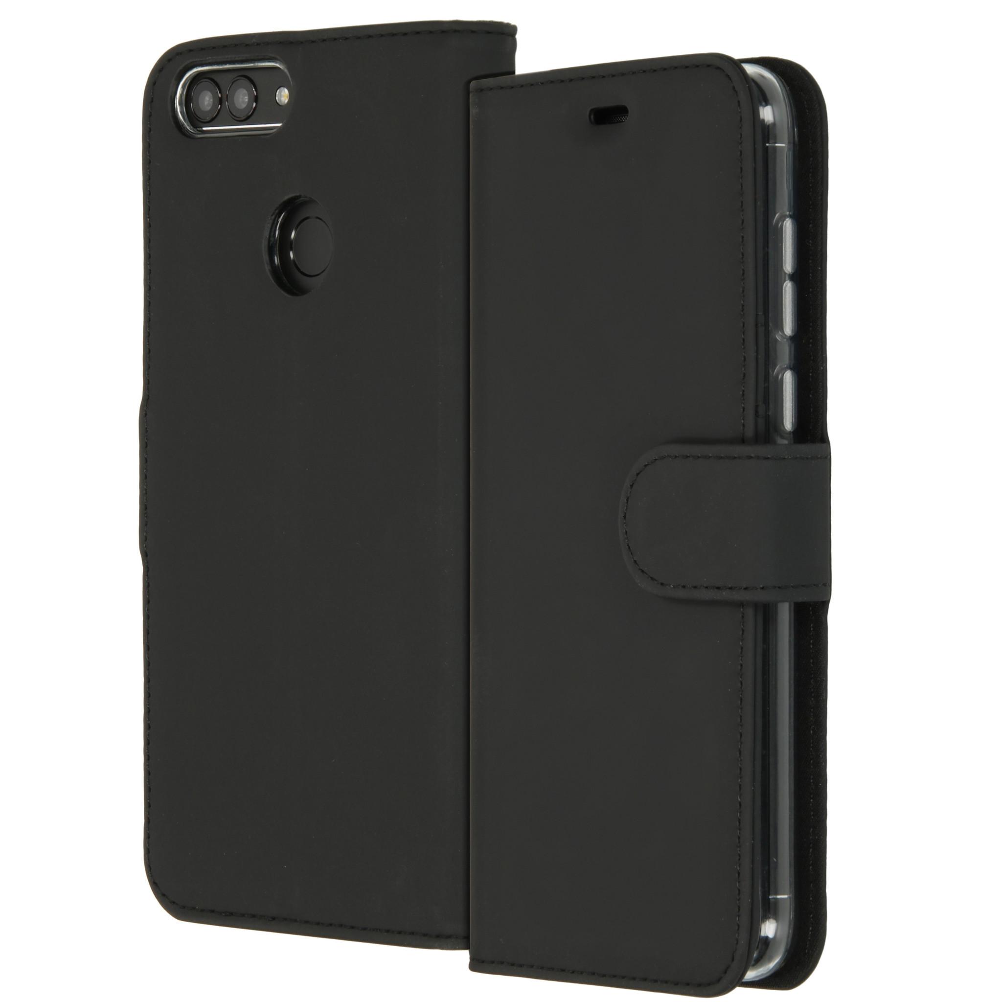 Accezz Schwarzes Wallet TPU Booklet für das Huawei P Smart