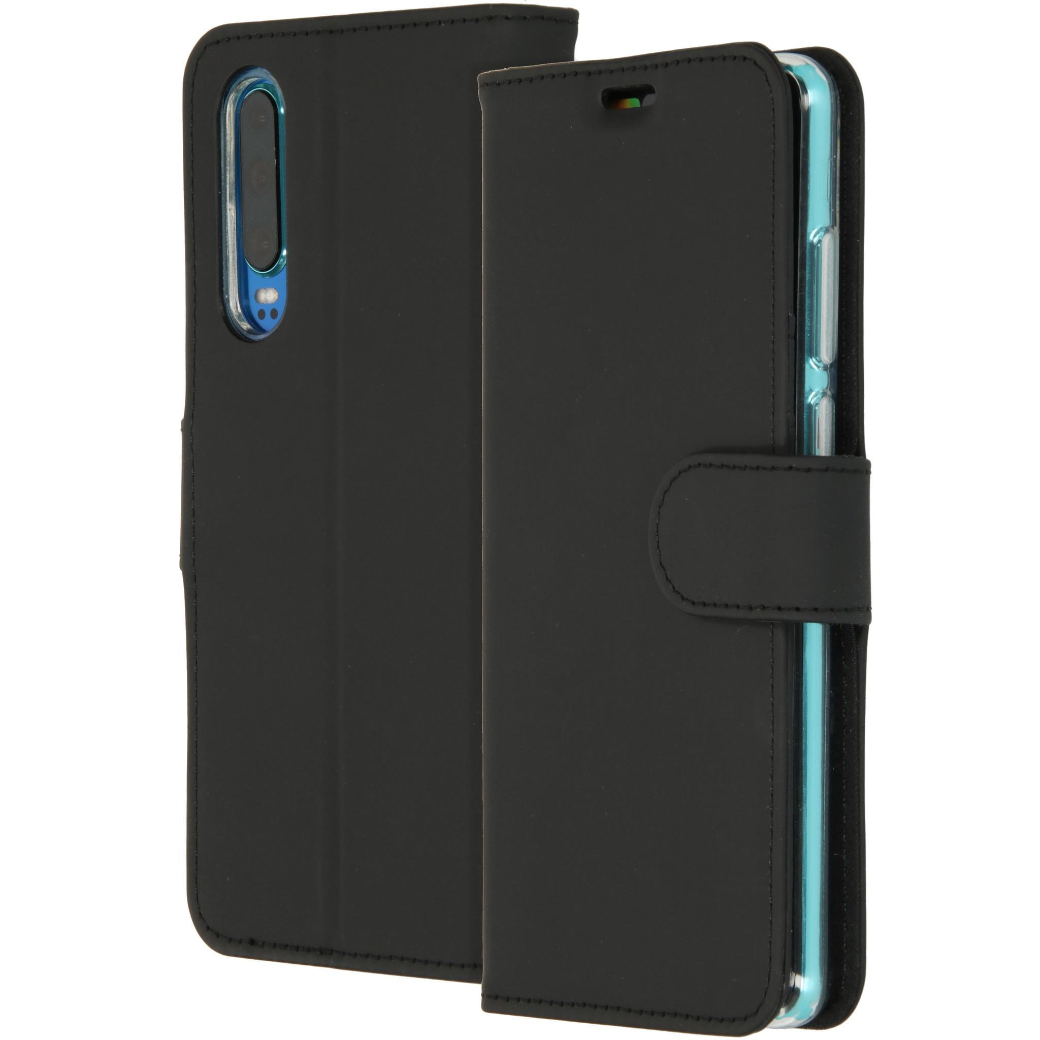 Accezz Wallet TPU Booklet Schwarz für das Huawei P30