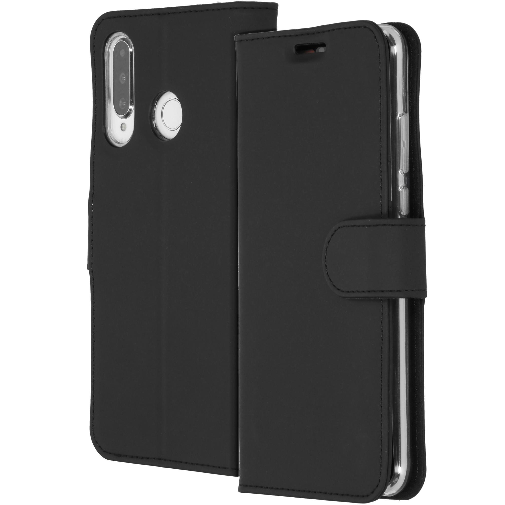 Accezz Wallet TPU Booklet Schwarz für das Huawei P30 Lite