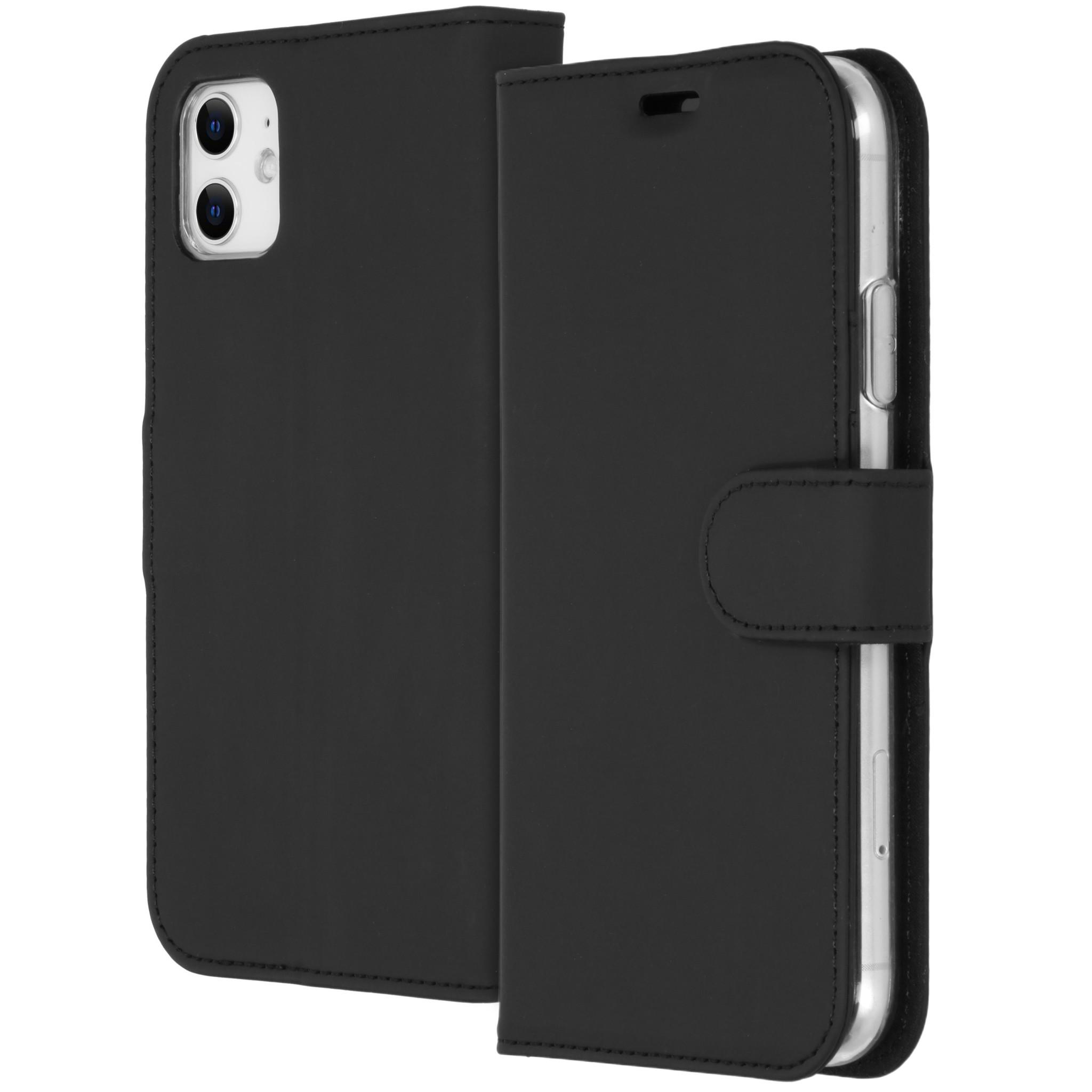 Accezz Wallet TPU Booklet Schwarz für das iPhone 11