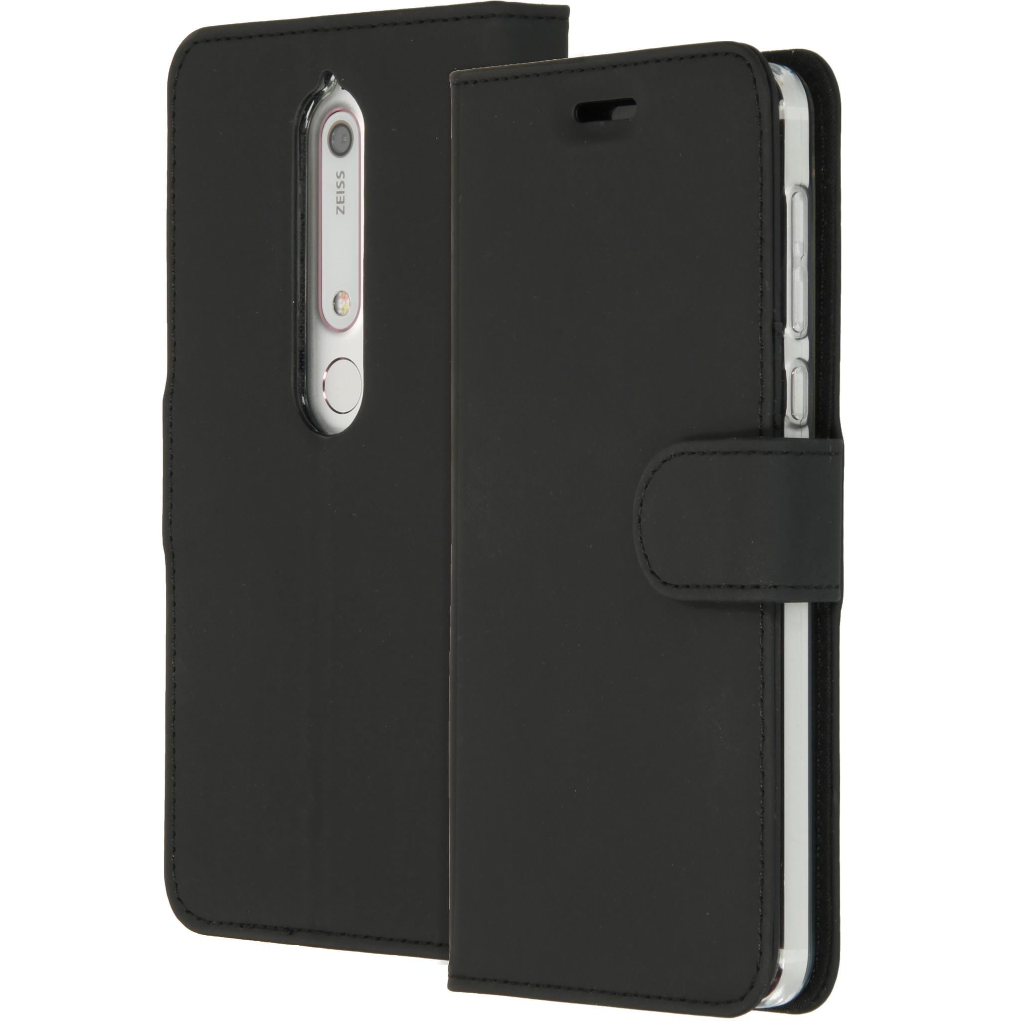 Accezz Schwarzes Wallet TPU Booklet für das Nokia 6.1