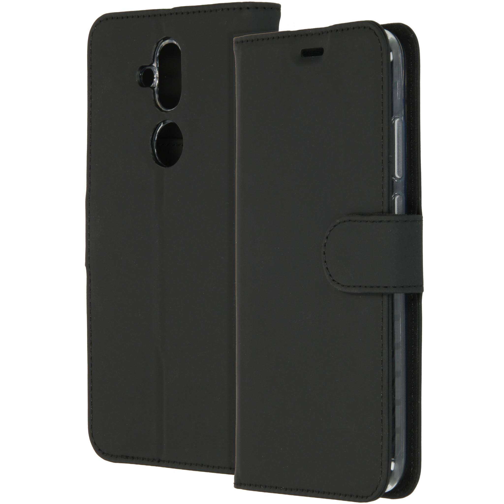 Accezz Wallet TPU Booklet Schwarz für das Nokia 8.1