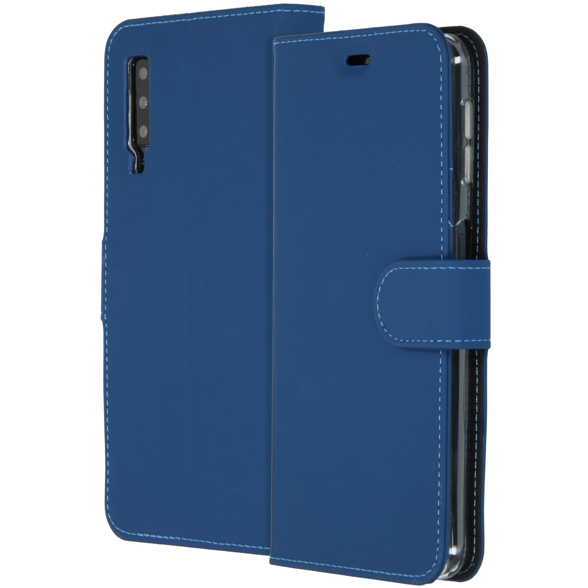 Accezz Wallet TPU Booklet Blau für das Samsung Galaxy A7 (2018)