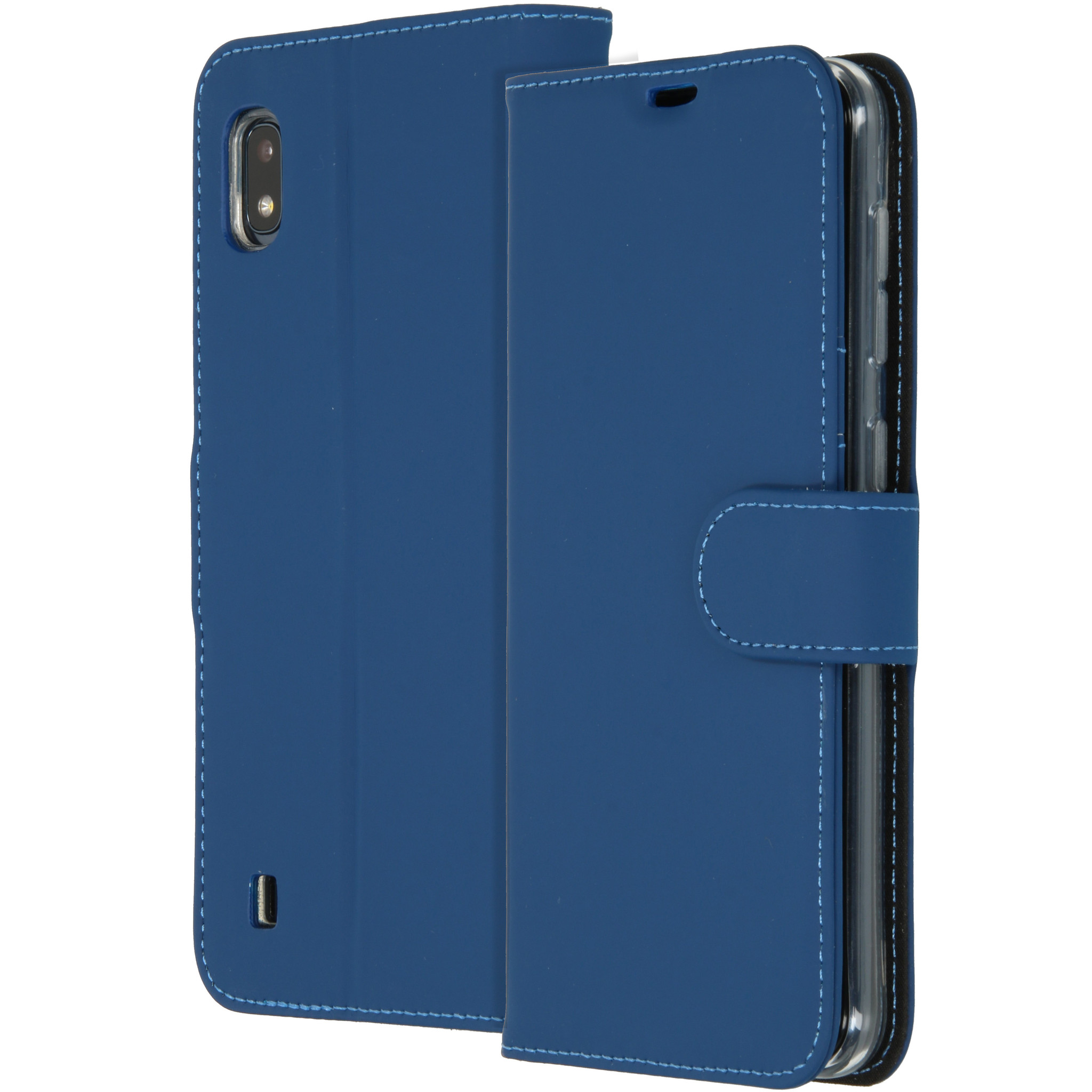 Accezz Wallet TPU Booklet Blau für das Samsung Galaxy A10
