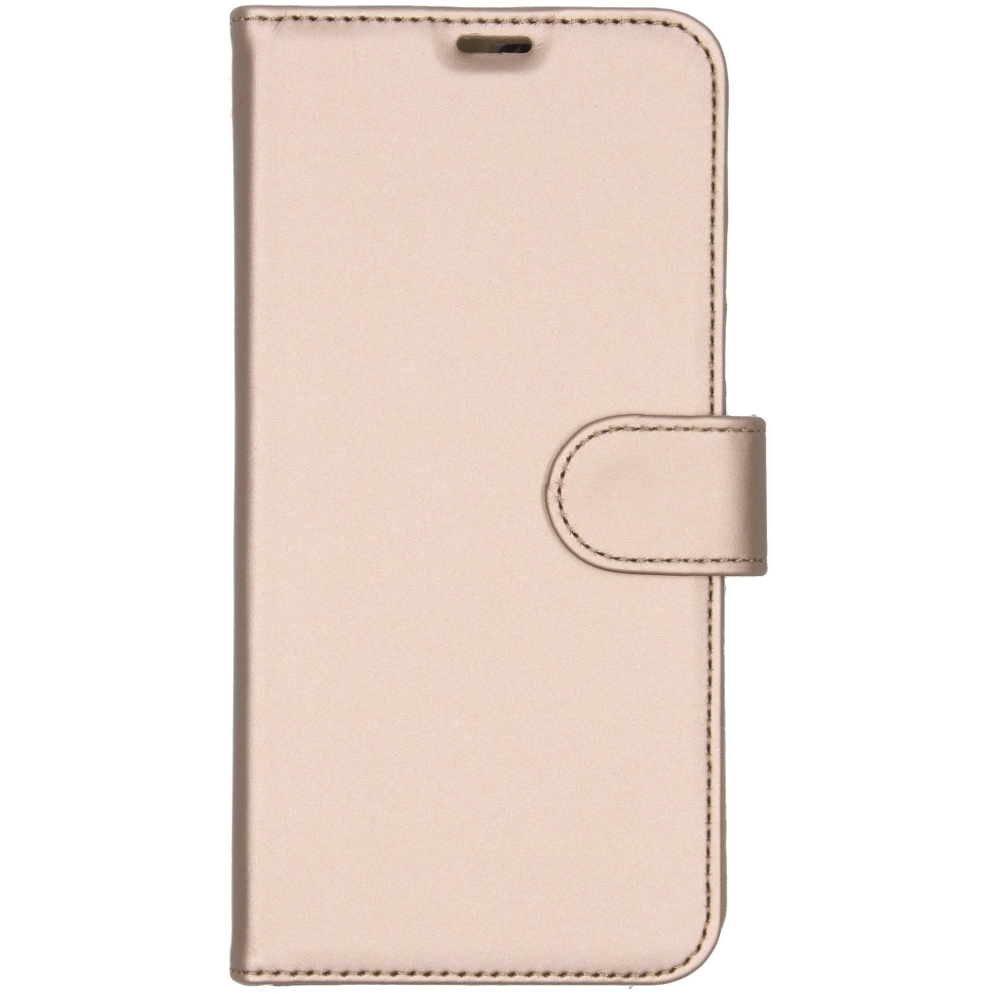 Accezz Wallet TPU Booklet Gold für das Samsung Galaxy A10