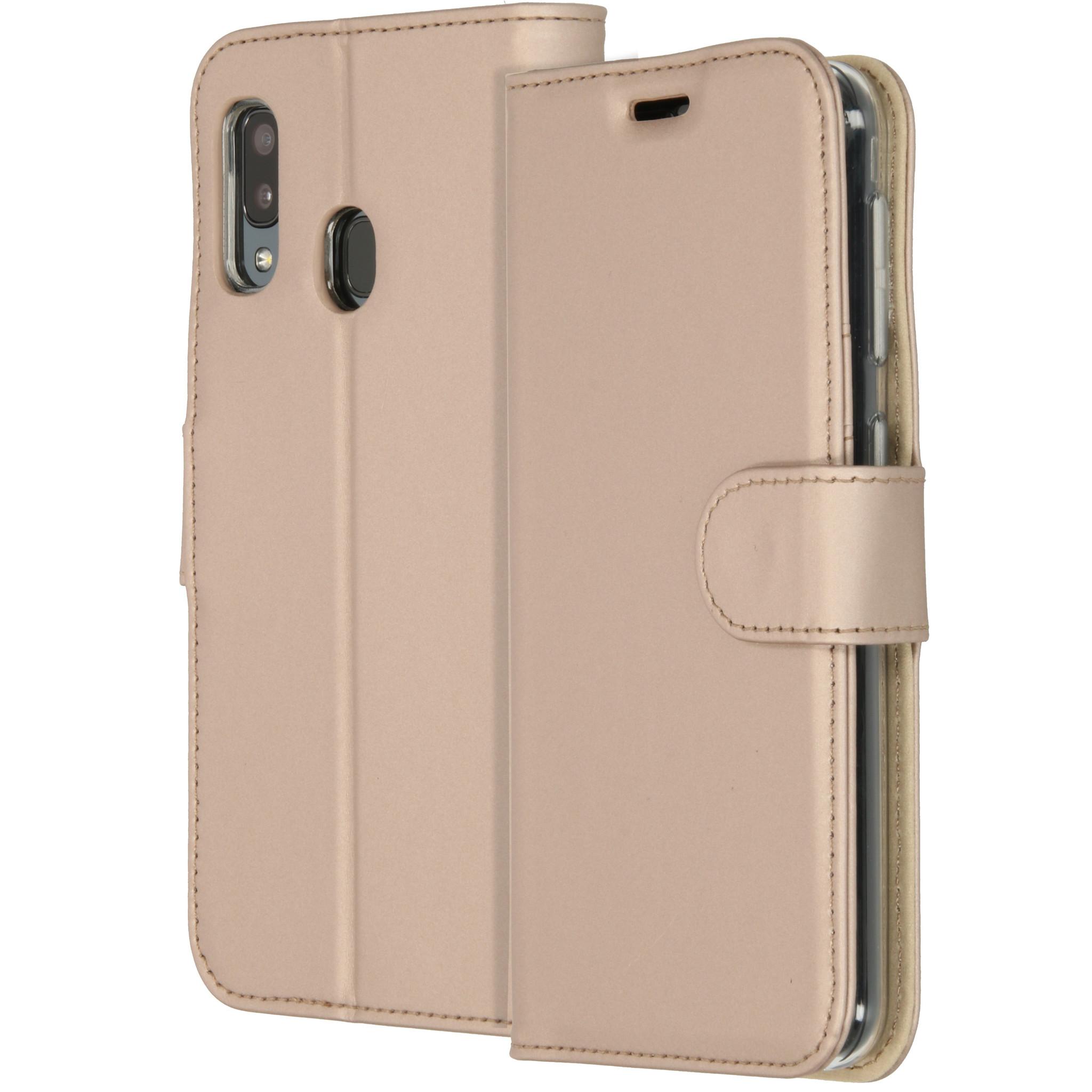 Accezz TPU Booklet Gold für das Samsung Galaxy A20e