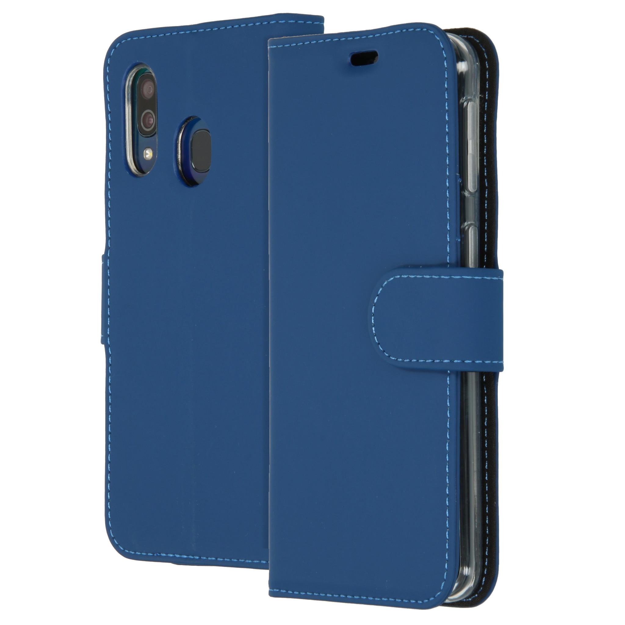 Accezz Wallet TPU Booklet Blau für das Samsung Galaxy A40