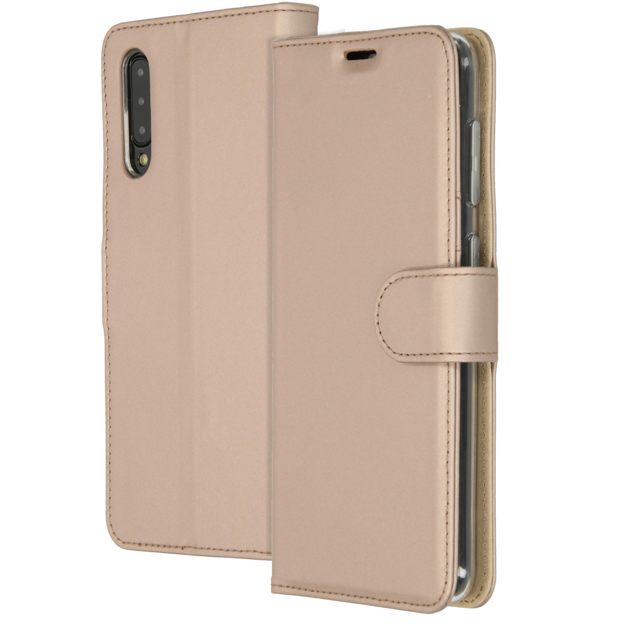 Accezz Wallet TPU Booklet Gold für das Samsung Galaxy A50 / A30s