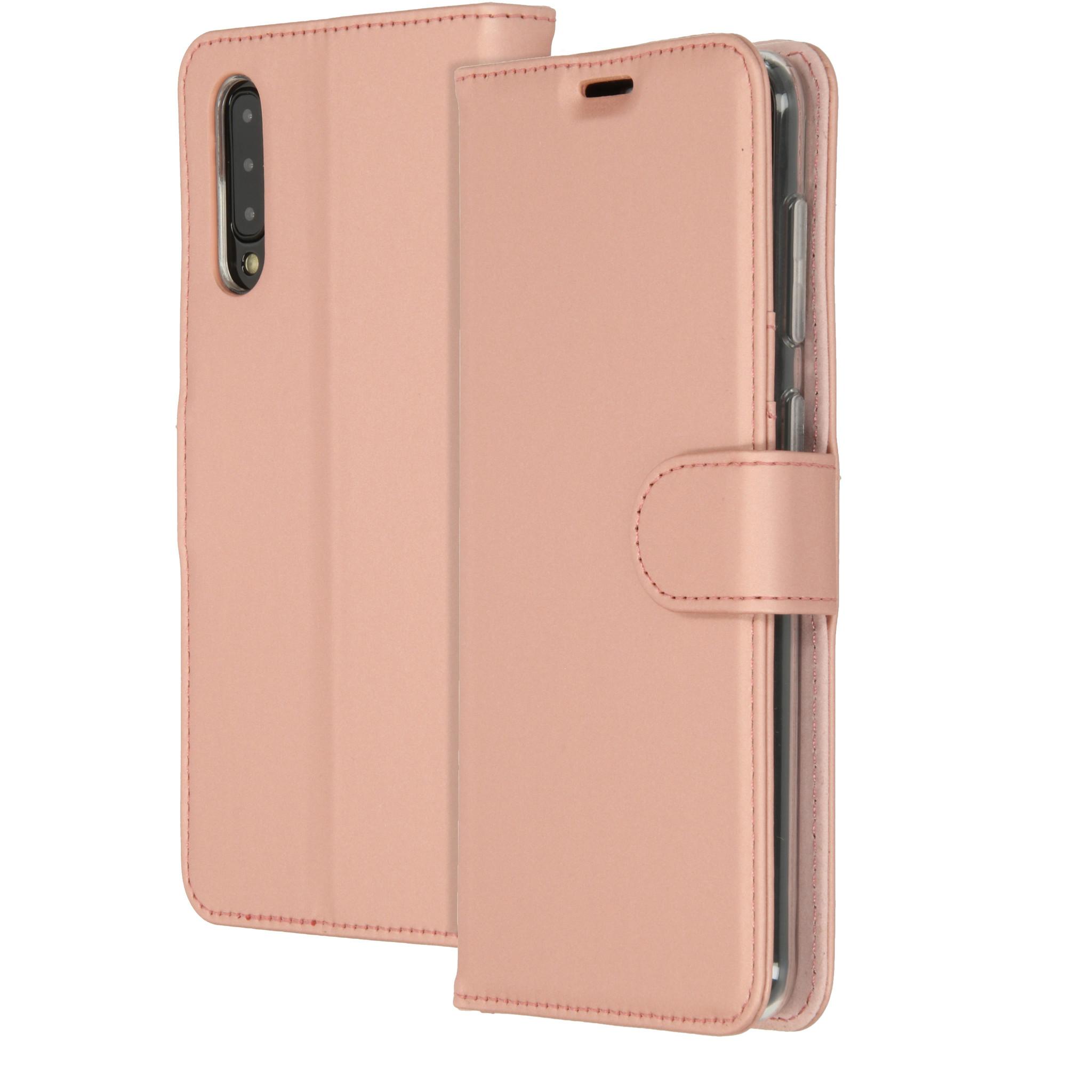 Accezz Wallet TPU Booklet Roségold für das Samsung Galaxy A50 / A30s