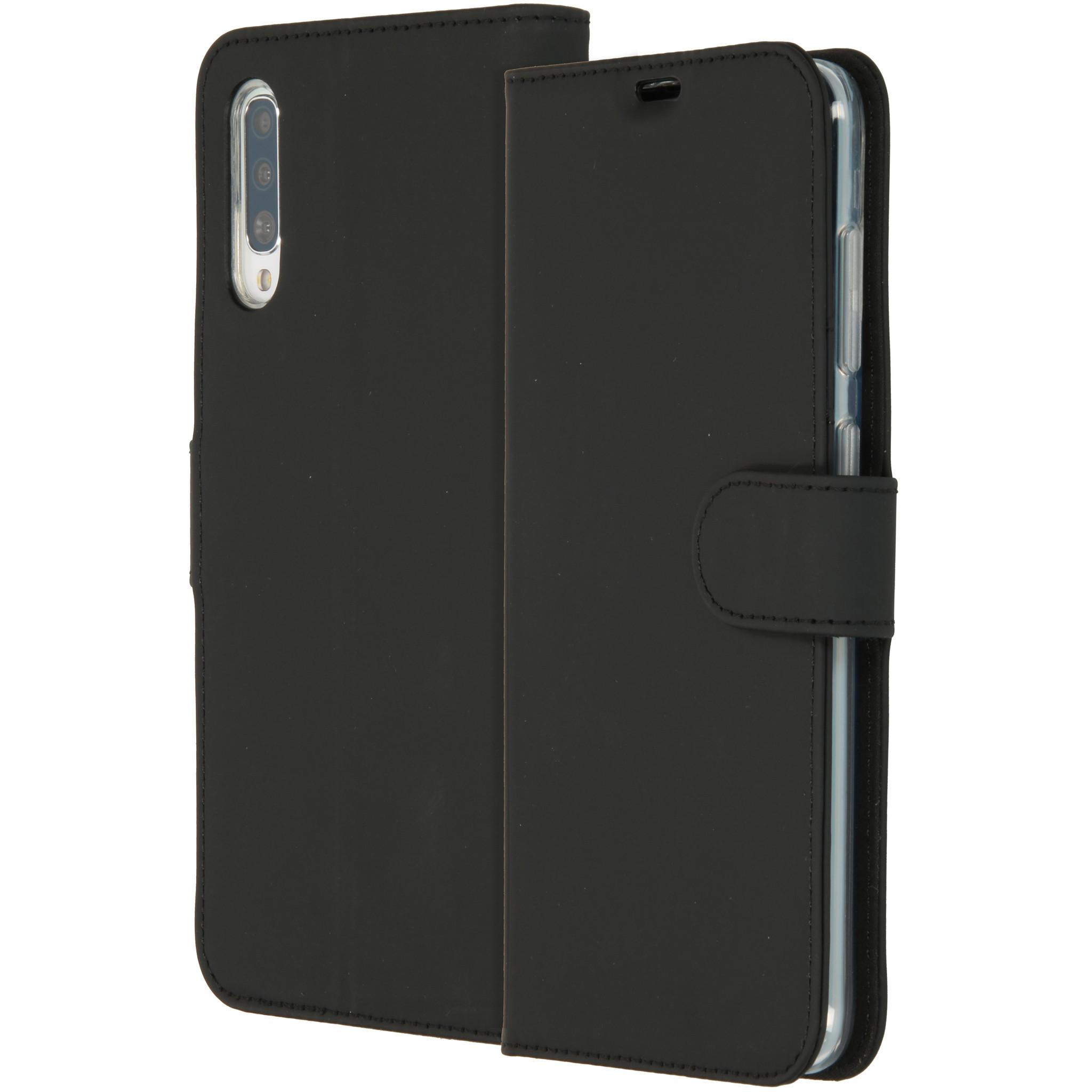 Accezz Wallet TPU Booklet Schwarz für das Samsung Galaxy A70