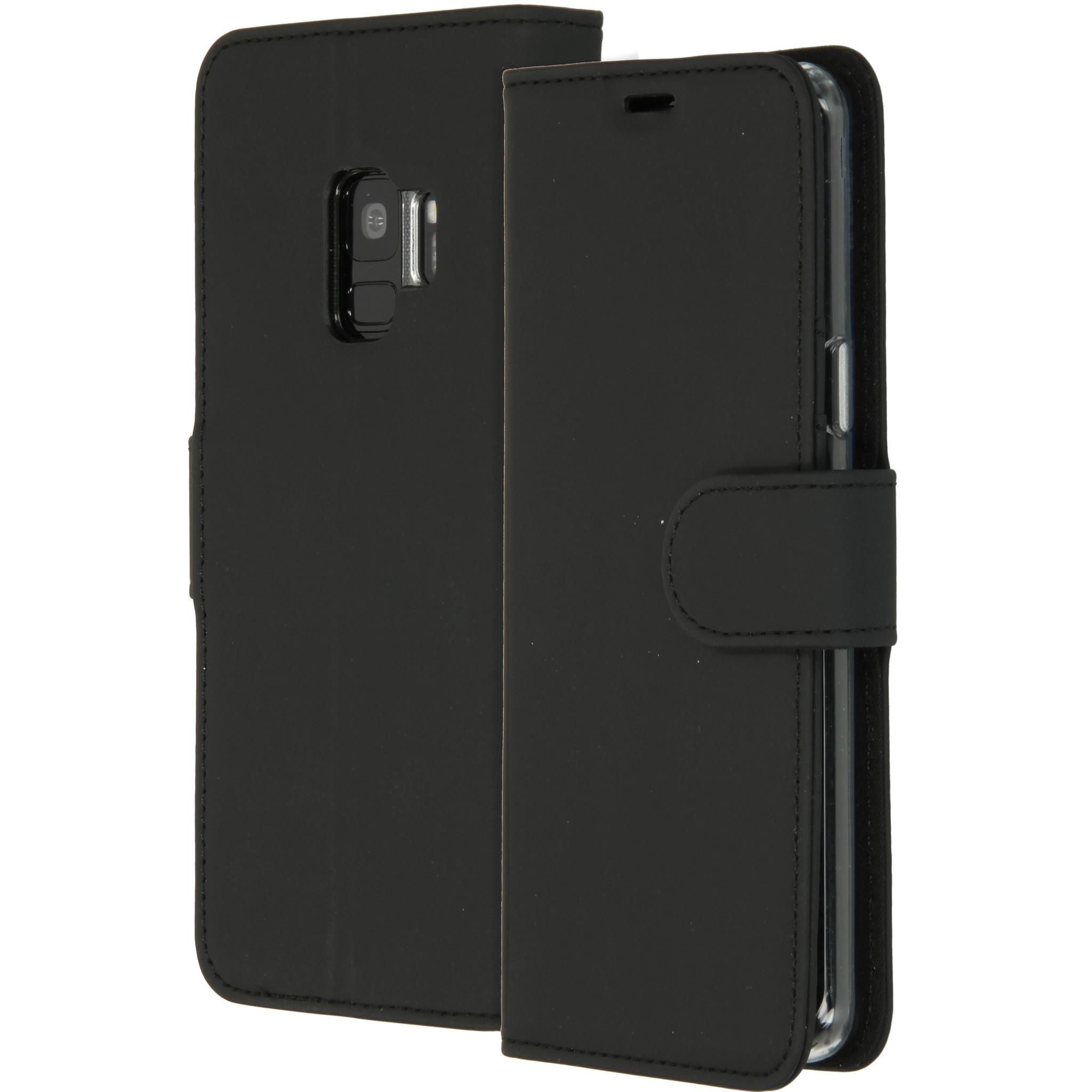 Accezz Schwarzes Wallet TPU Booklet für das Samsung Galaxy S9
