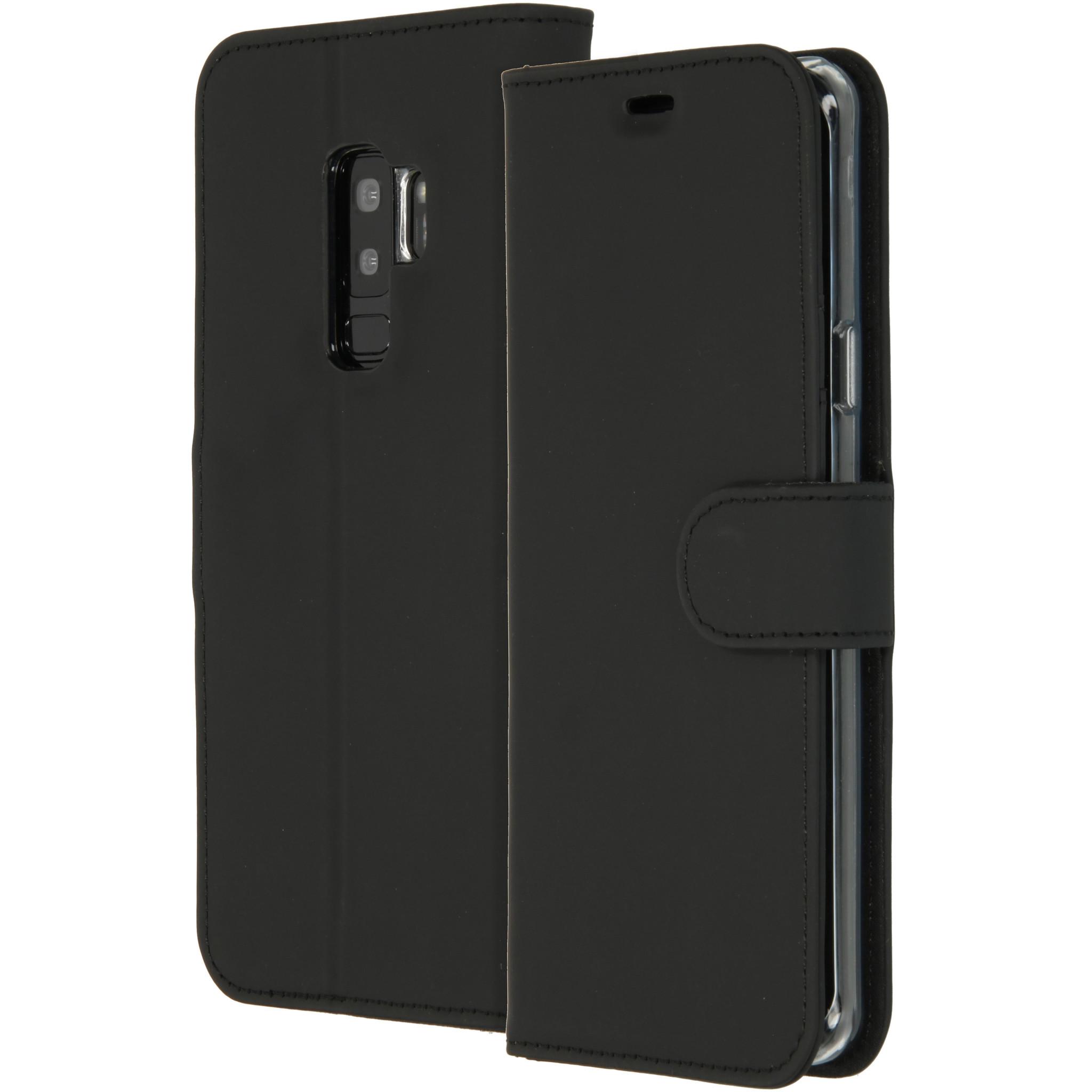 Accezz Schwarzes Wallet TPU Booklet für das Samsung Galaxy S9 Plus
