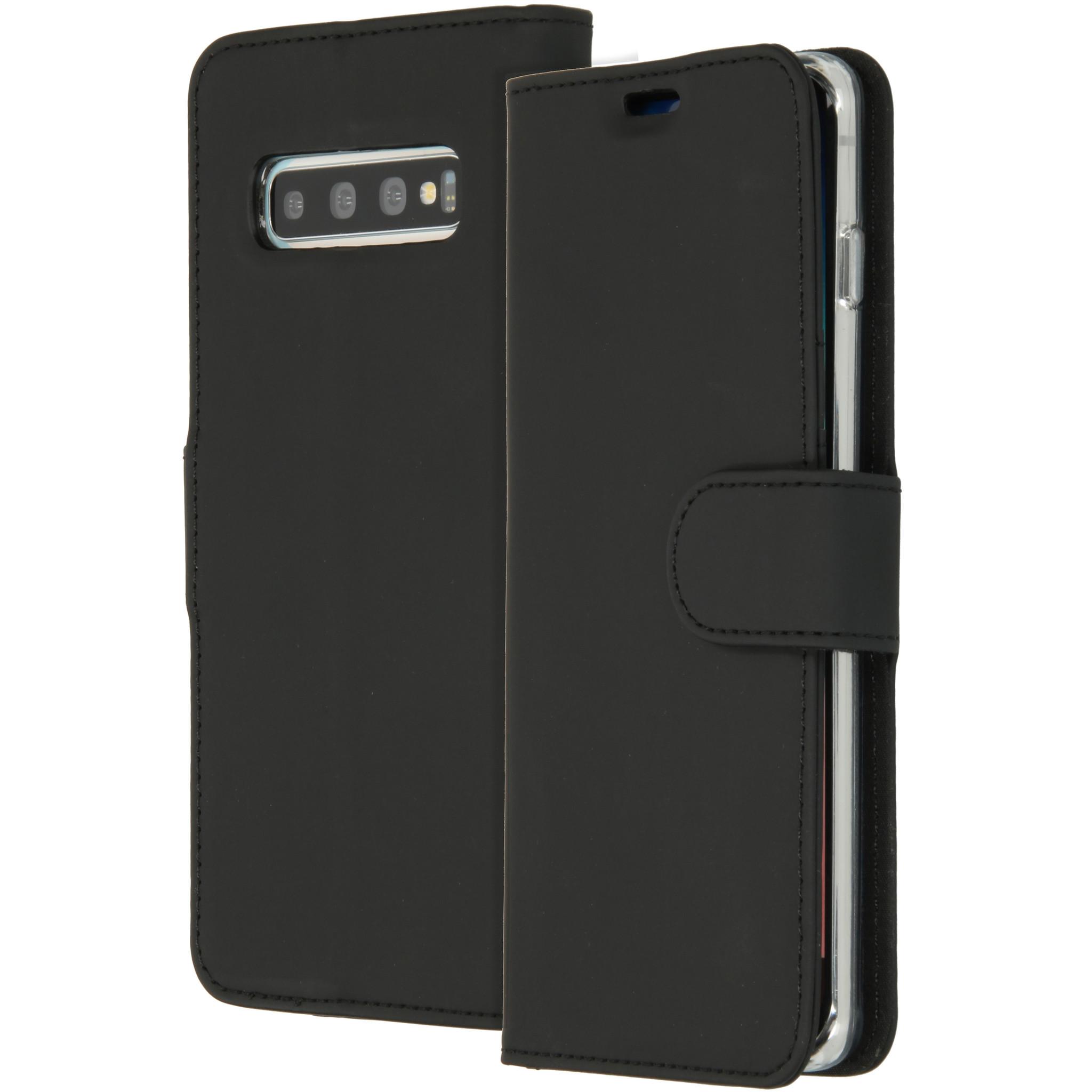 Accezz Wallet TPU Booklet Schwarz für das Samsung Galaxy S10