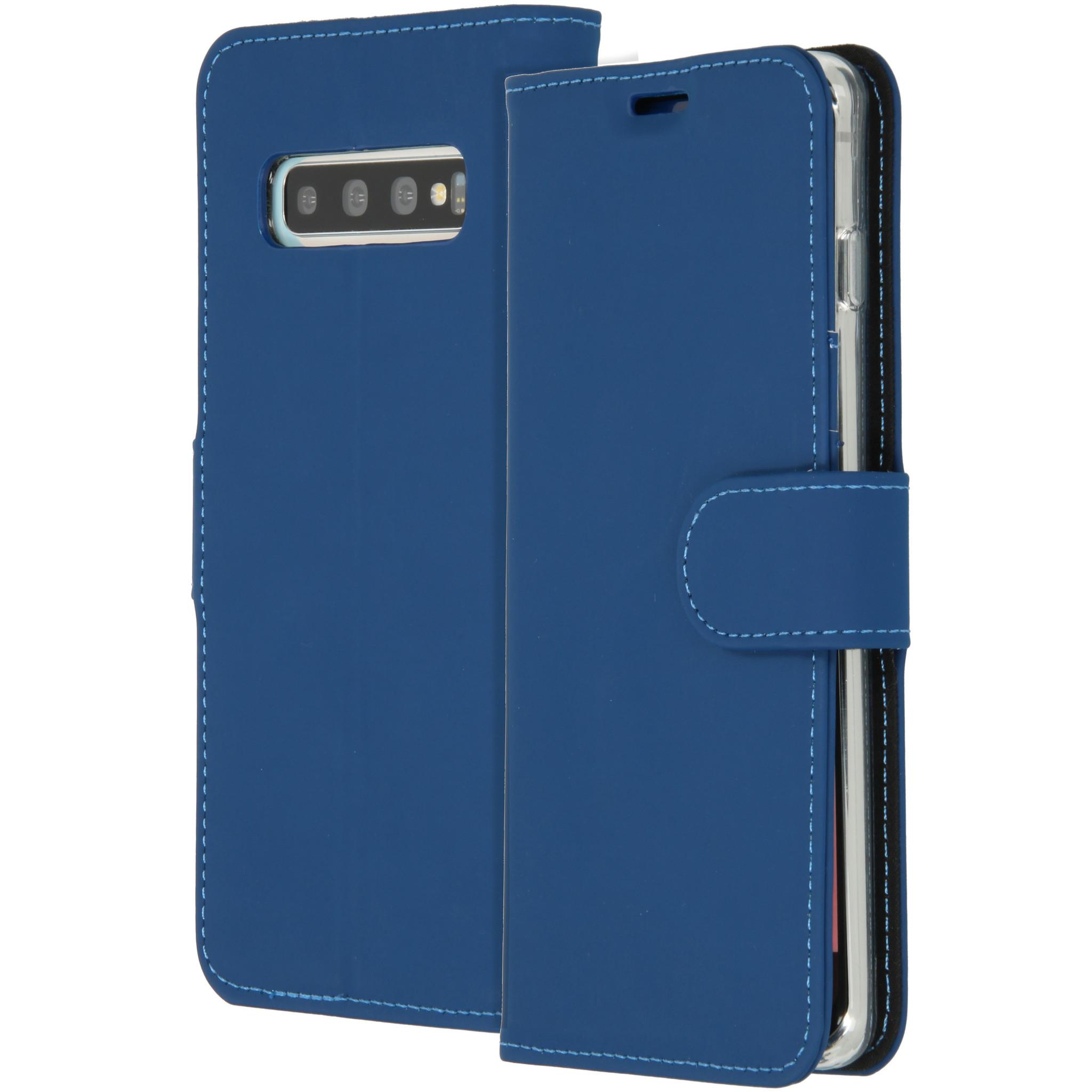 Accezz Wallet TPU Booklet Blau für das Samsung Galaxy S10