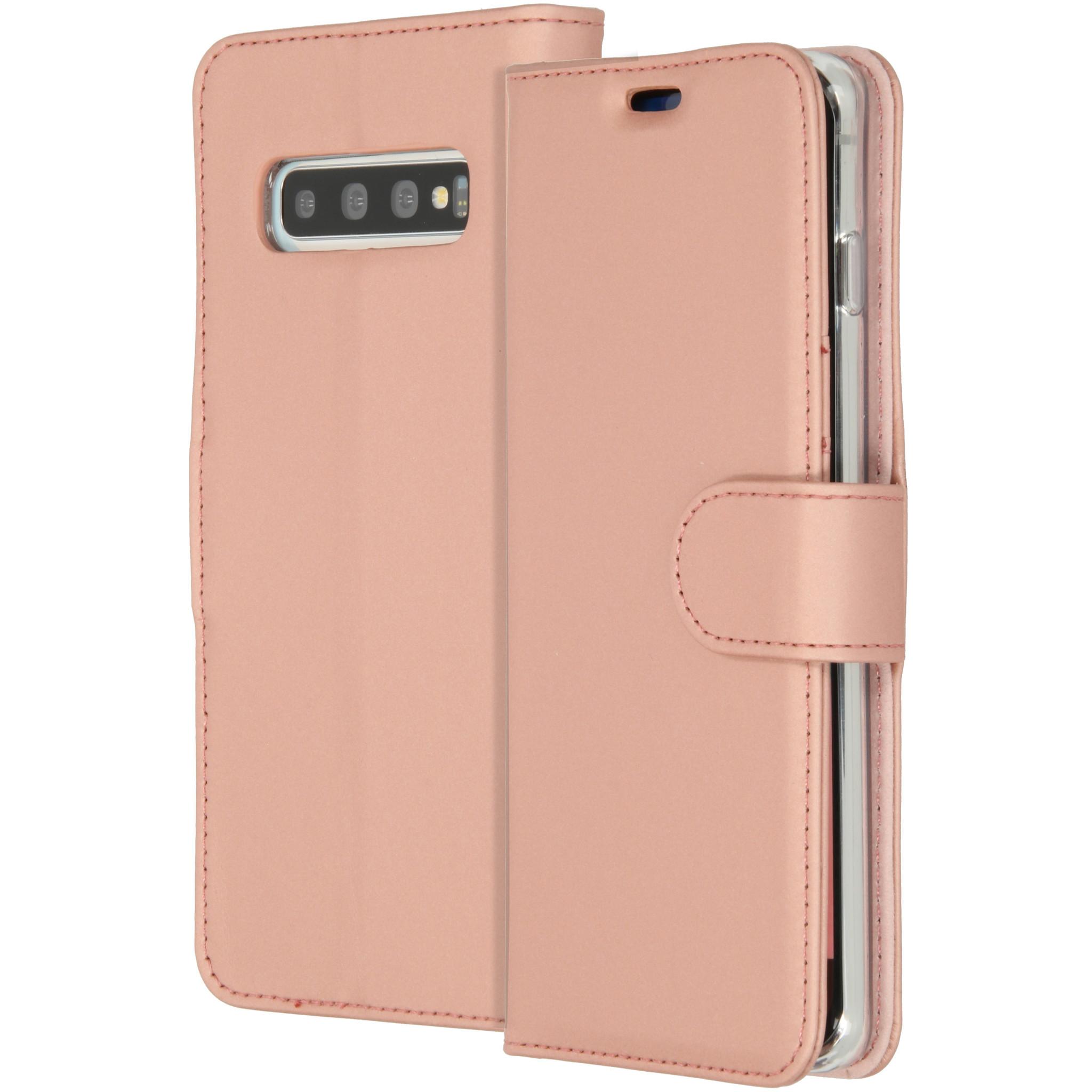 Accezz Wallet TPU Booklet Roségold für das Samsung Galaxy S10